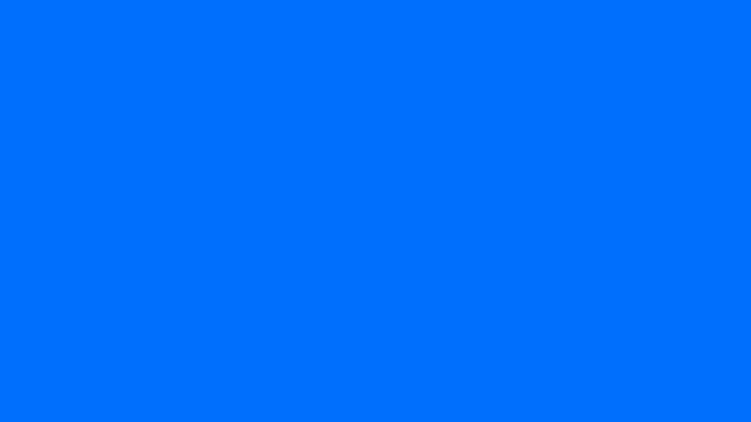 2560x1440 Brandeis Blue Solid Color Background ...