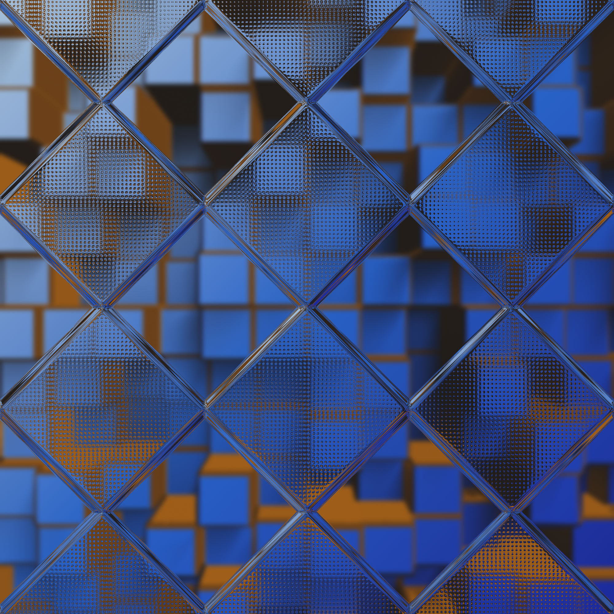 Blue 3d hex background photo