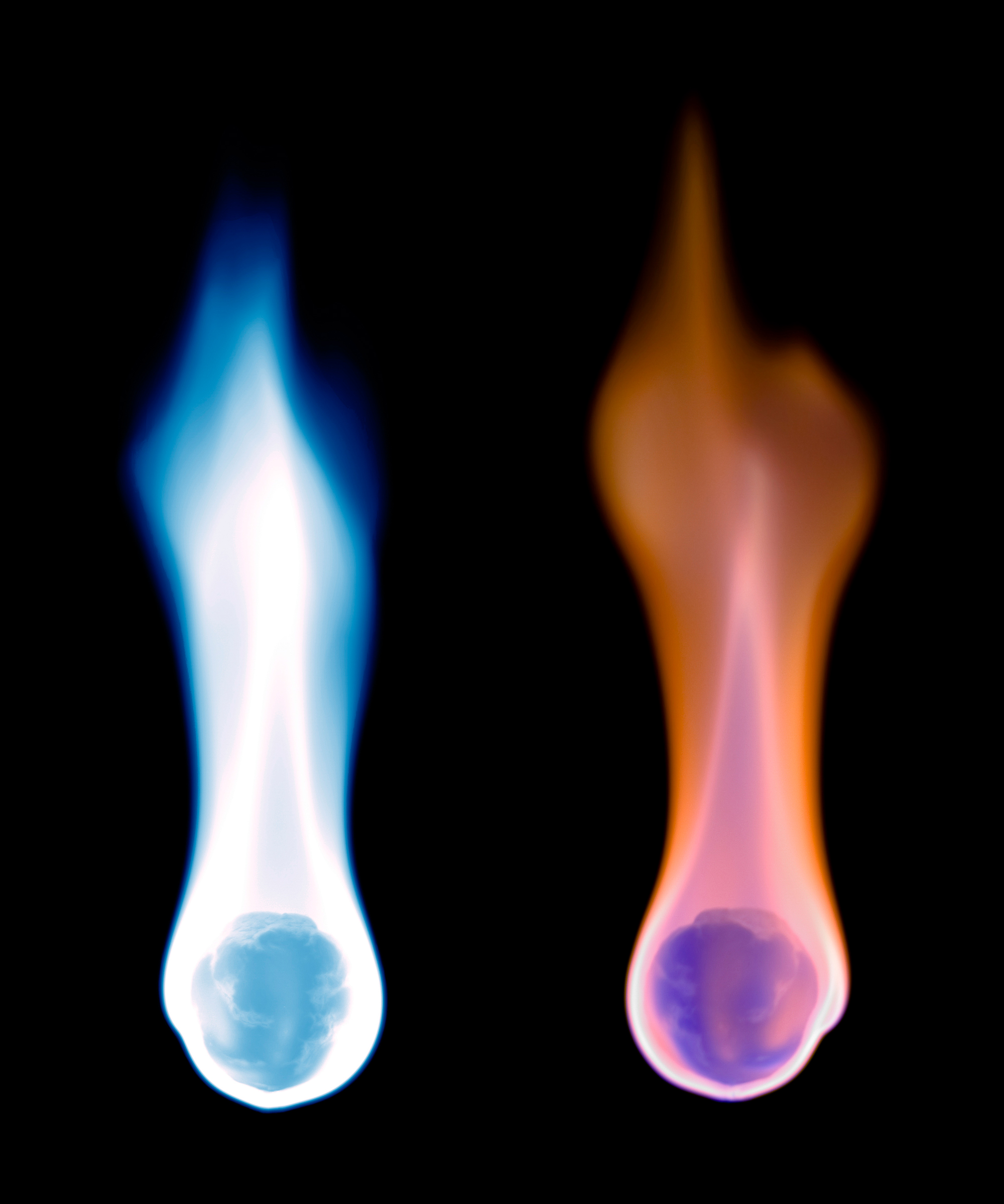 Blue and orange flames, Fire, Explosion, Flame, Flames, HQ Photo