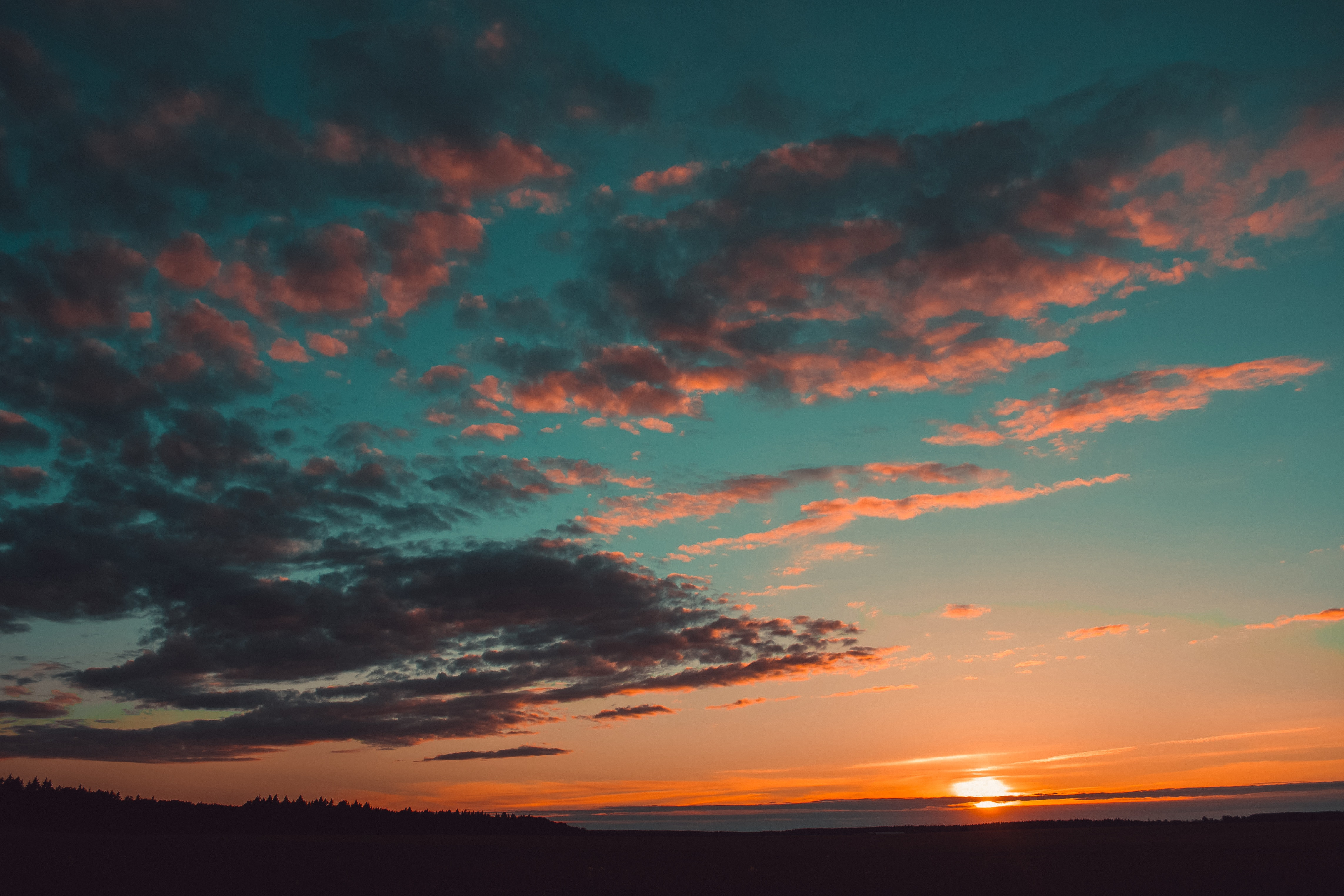Blue and Orange Skies, Clouds, Darkness, Dusk, Environment, HQ Photo