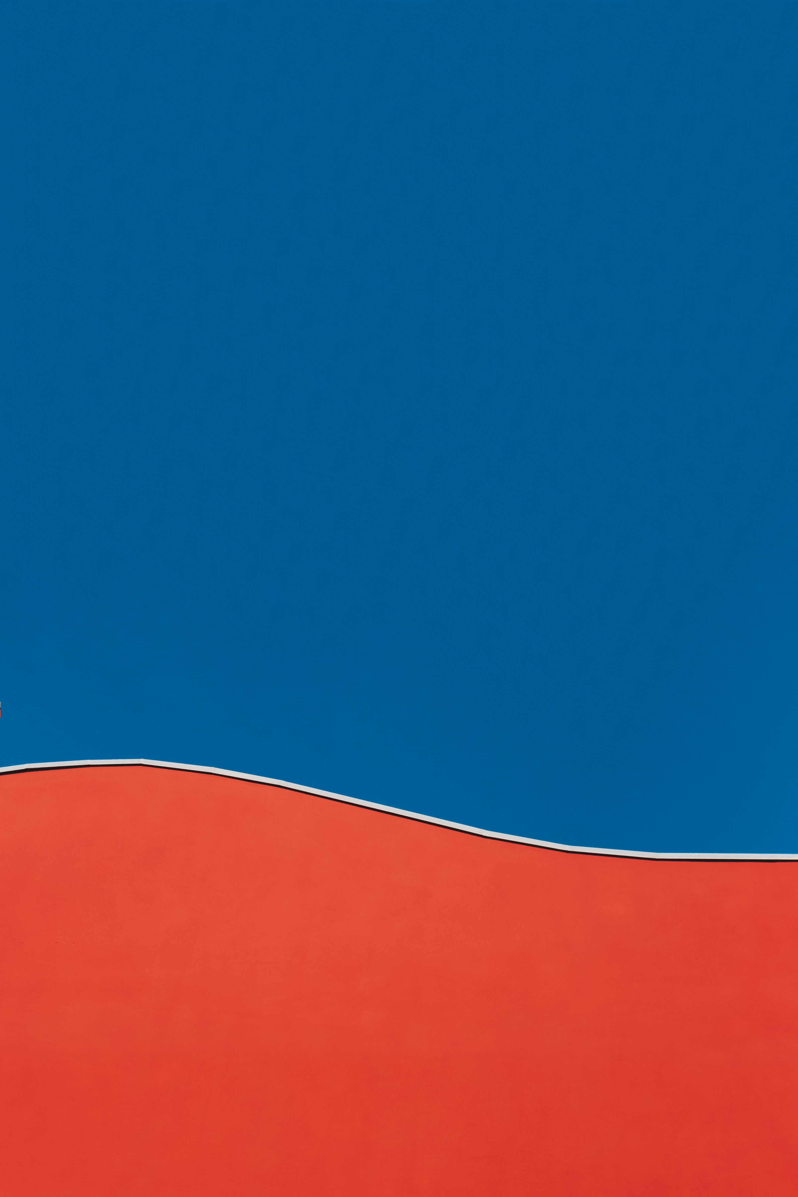 Blue and Red Illustration, Abstract, Outdoors, Landscape, Minimalism, HQ Photo