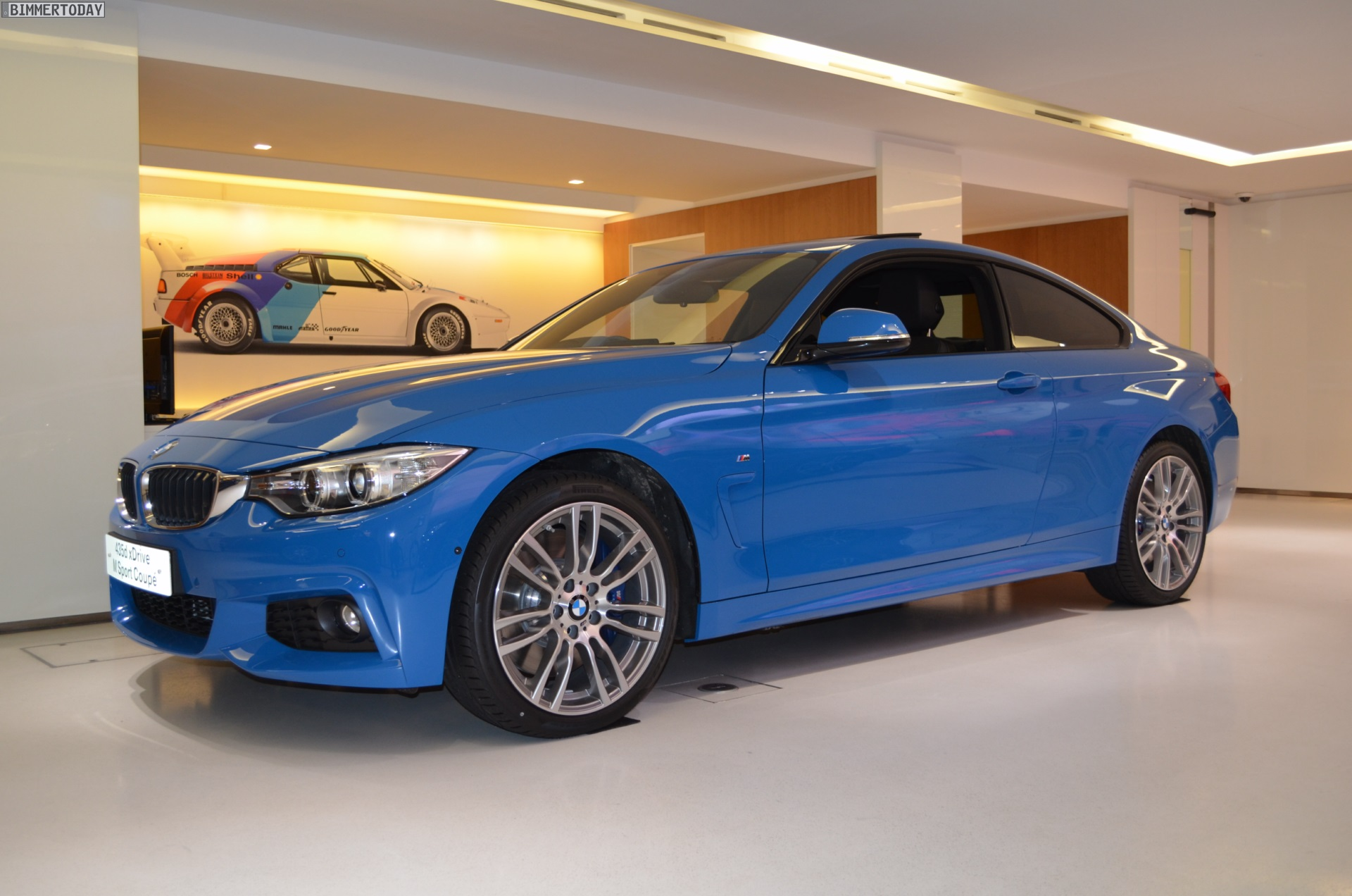 BMW 4 Series Coupe in Pure Blue Individual color