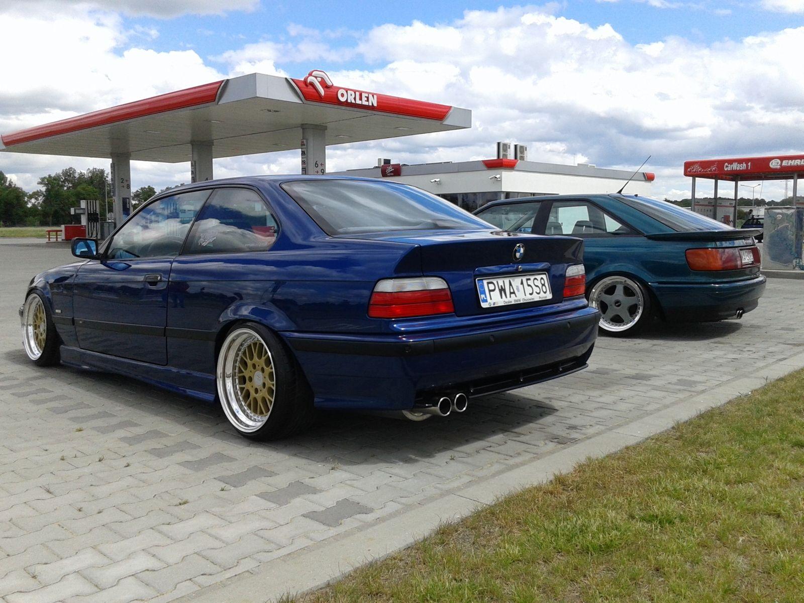 Blue BMW e36 coupe on cult classic Mille Miglia MM2000 wheels | E36 ...