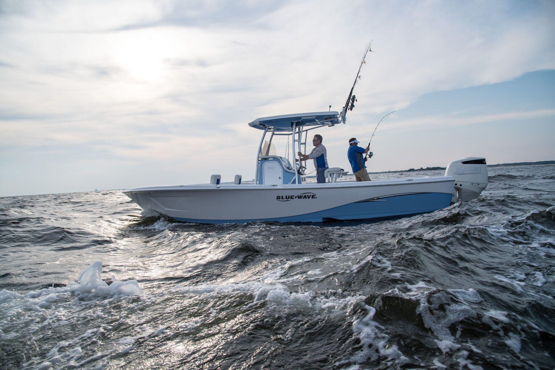 Blue boat photo