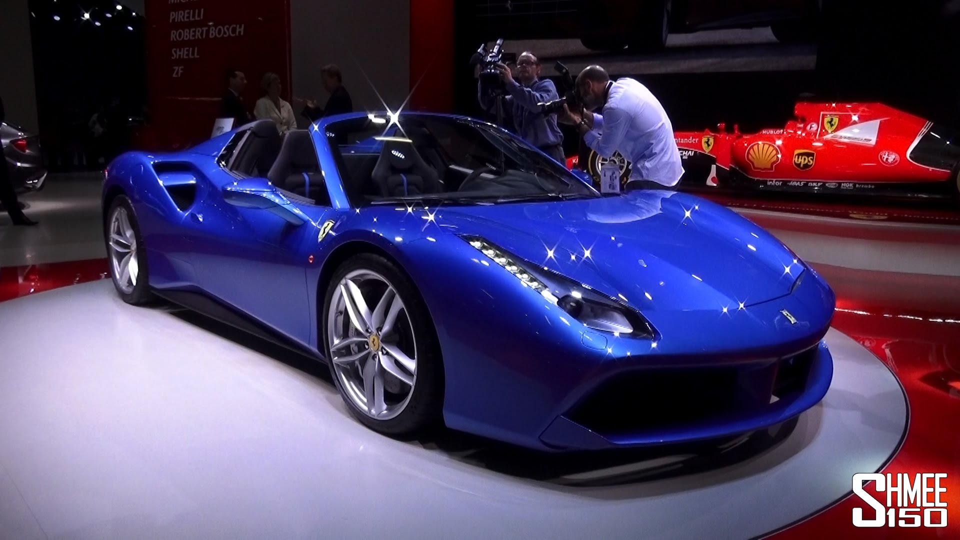 The Blue Cars of the Frankfurt Motorshow 2015 - YouTube