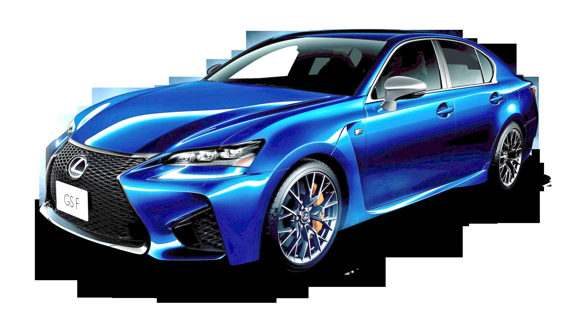 Lexus GS Blue Car PNG Image - PngPix
