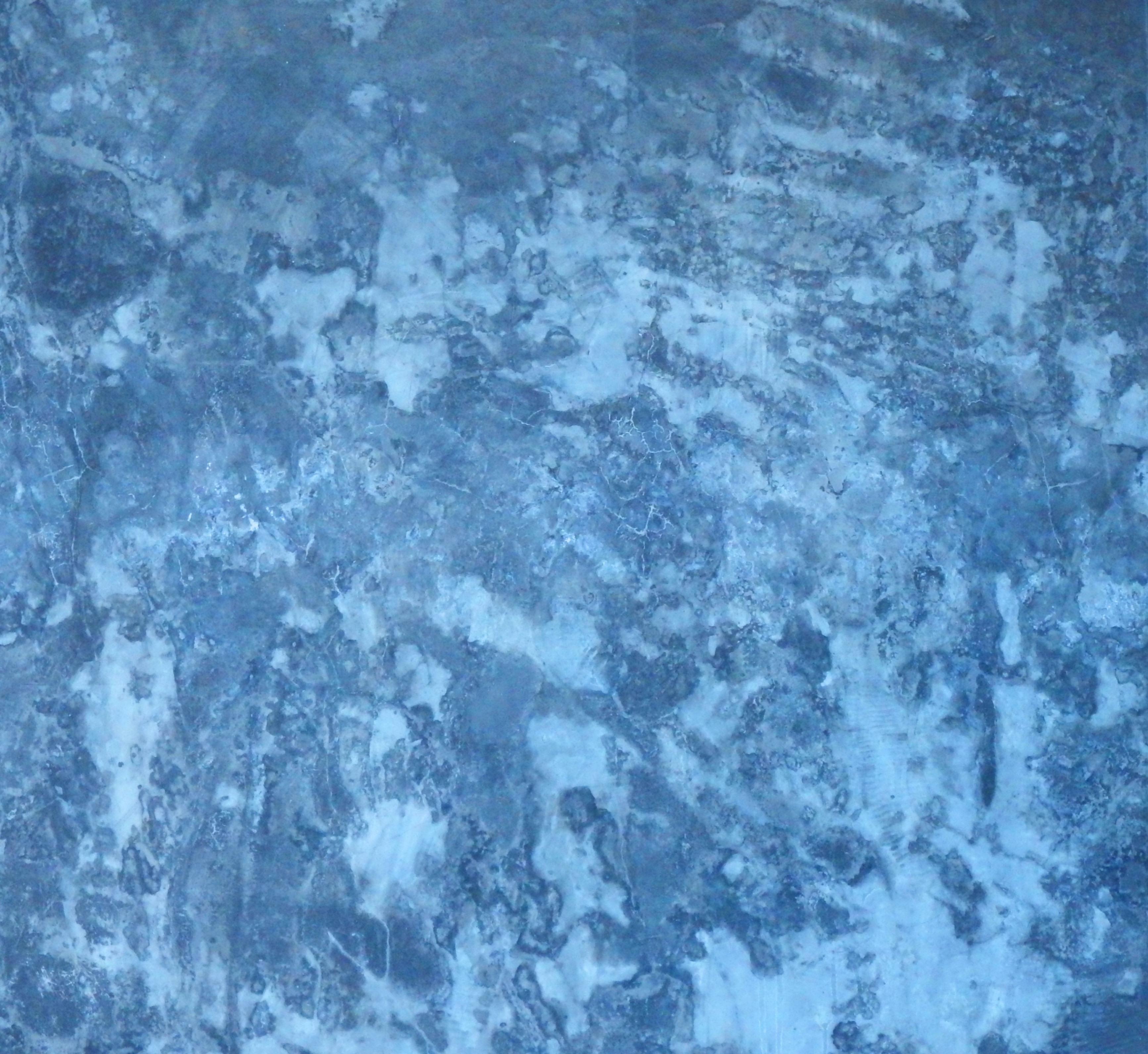Blue concrete wall texture photo