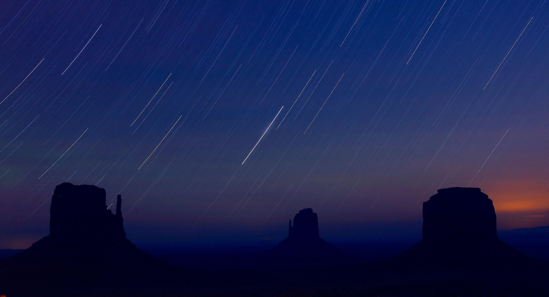 Blue Desert Sky, Stars, Night, Monument valley, Desert, HQ Photo