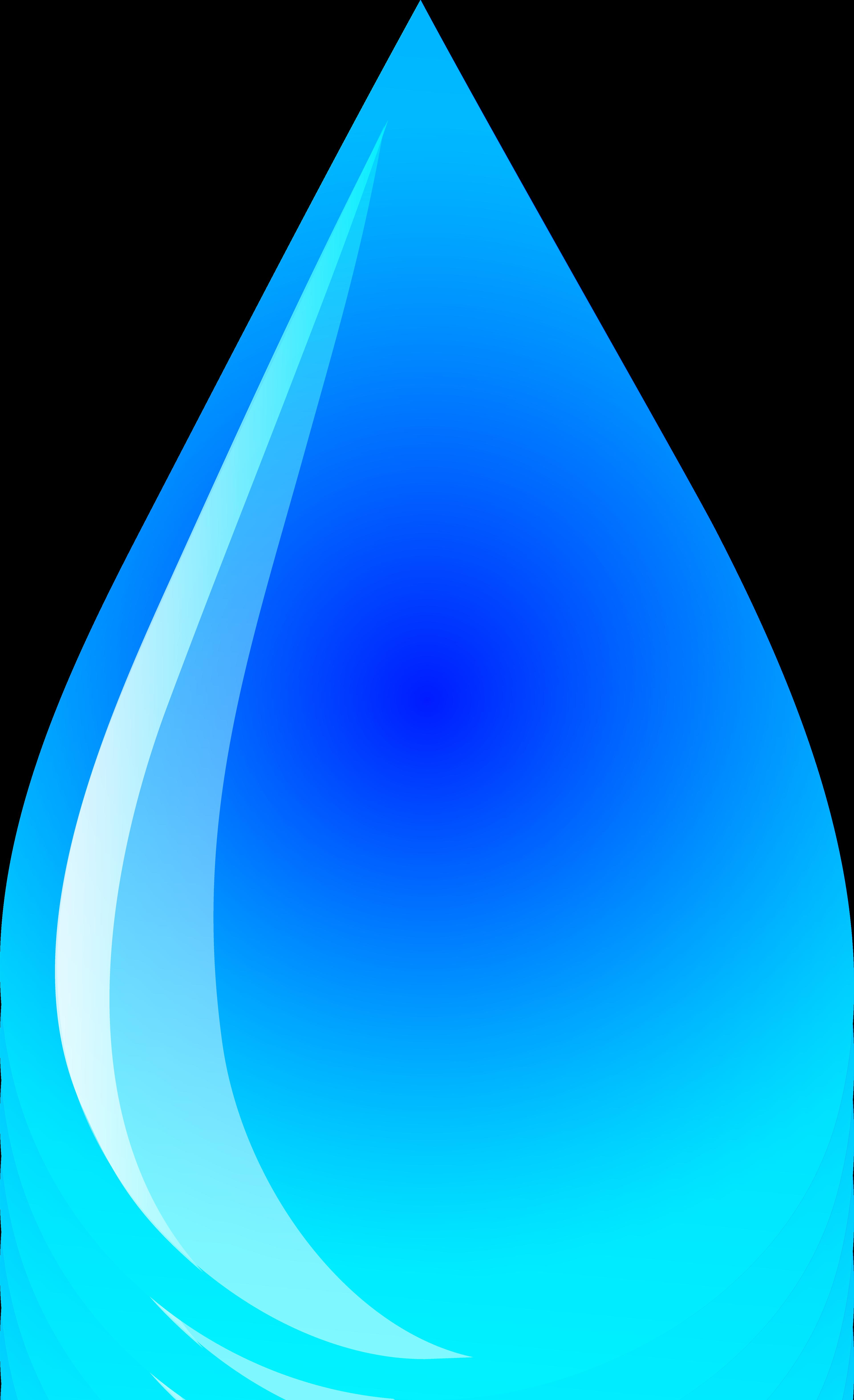 Blue Water Droplet Logo - Free Clip Art