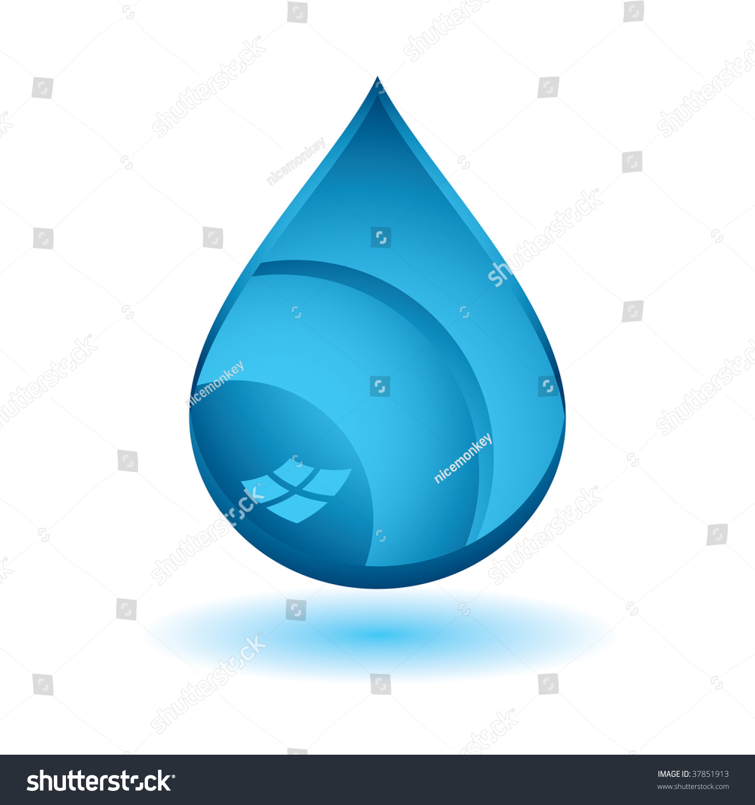 Single Blue Water Droplet Icon Drop Stock Vector 37851913 - Shutterstock