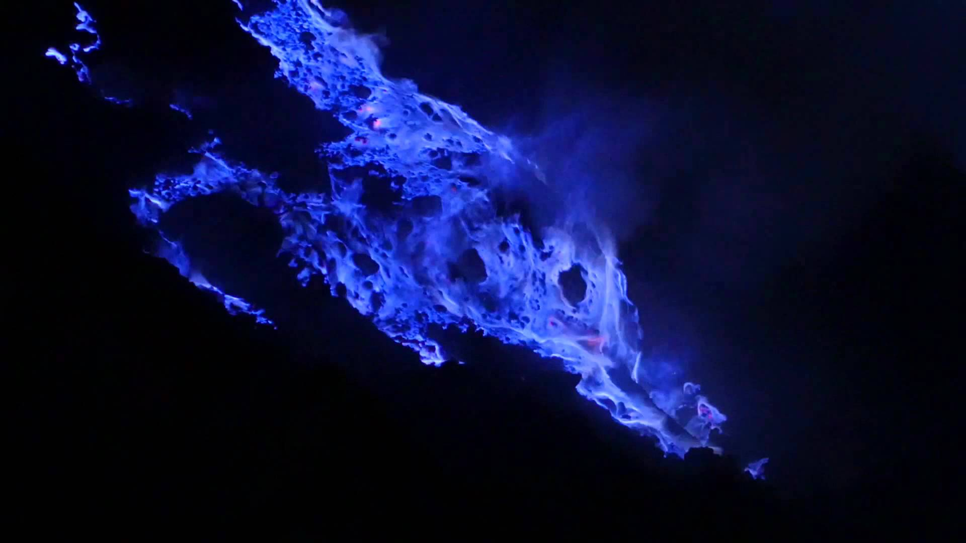 Blue fire photo