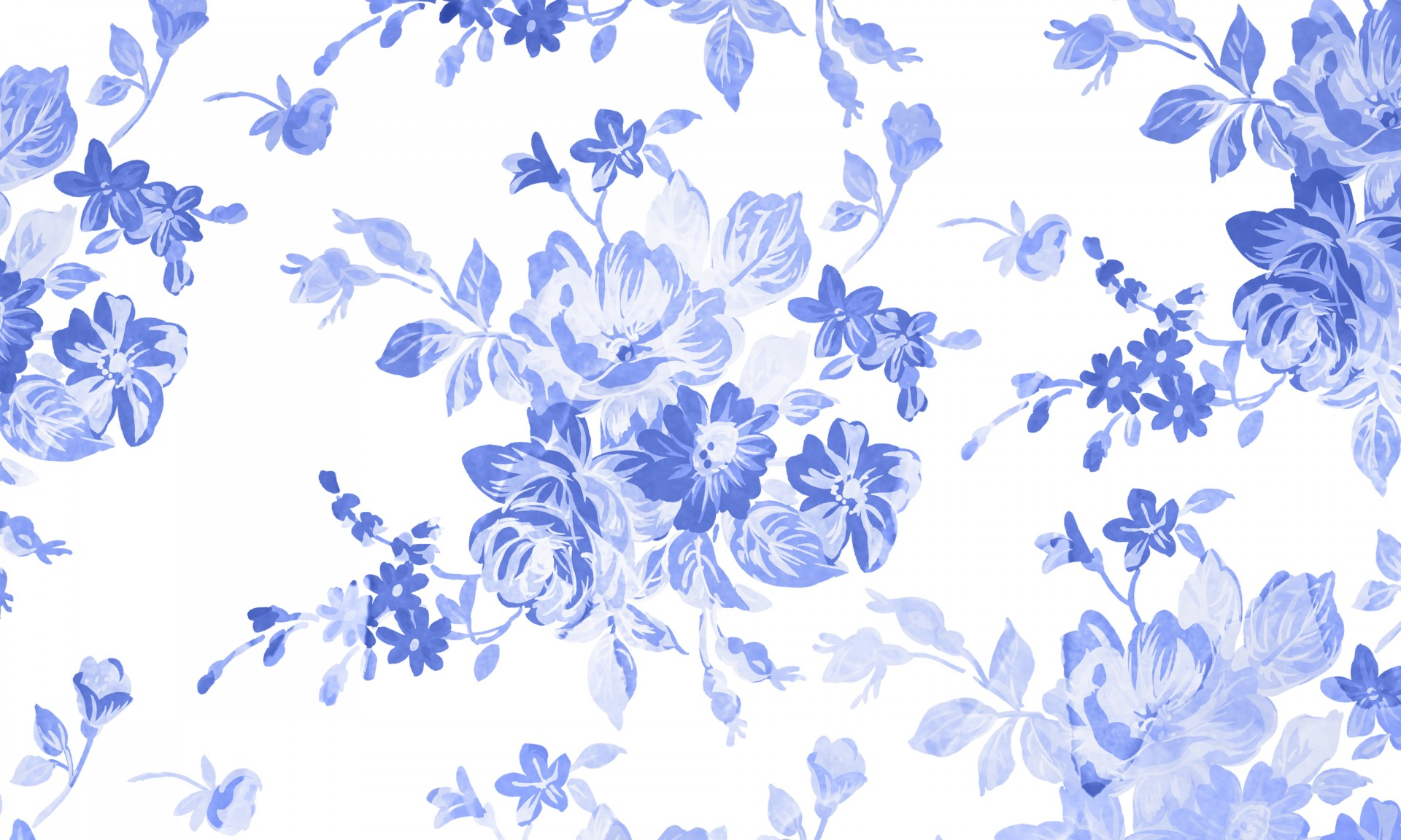 Free Photo Blue Floral Background Page Ornate Ornamental Free