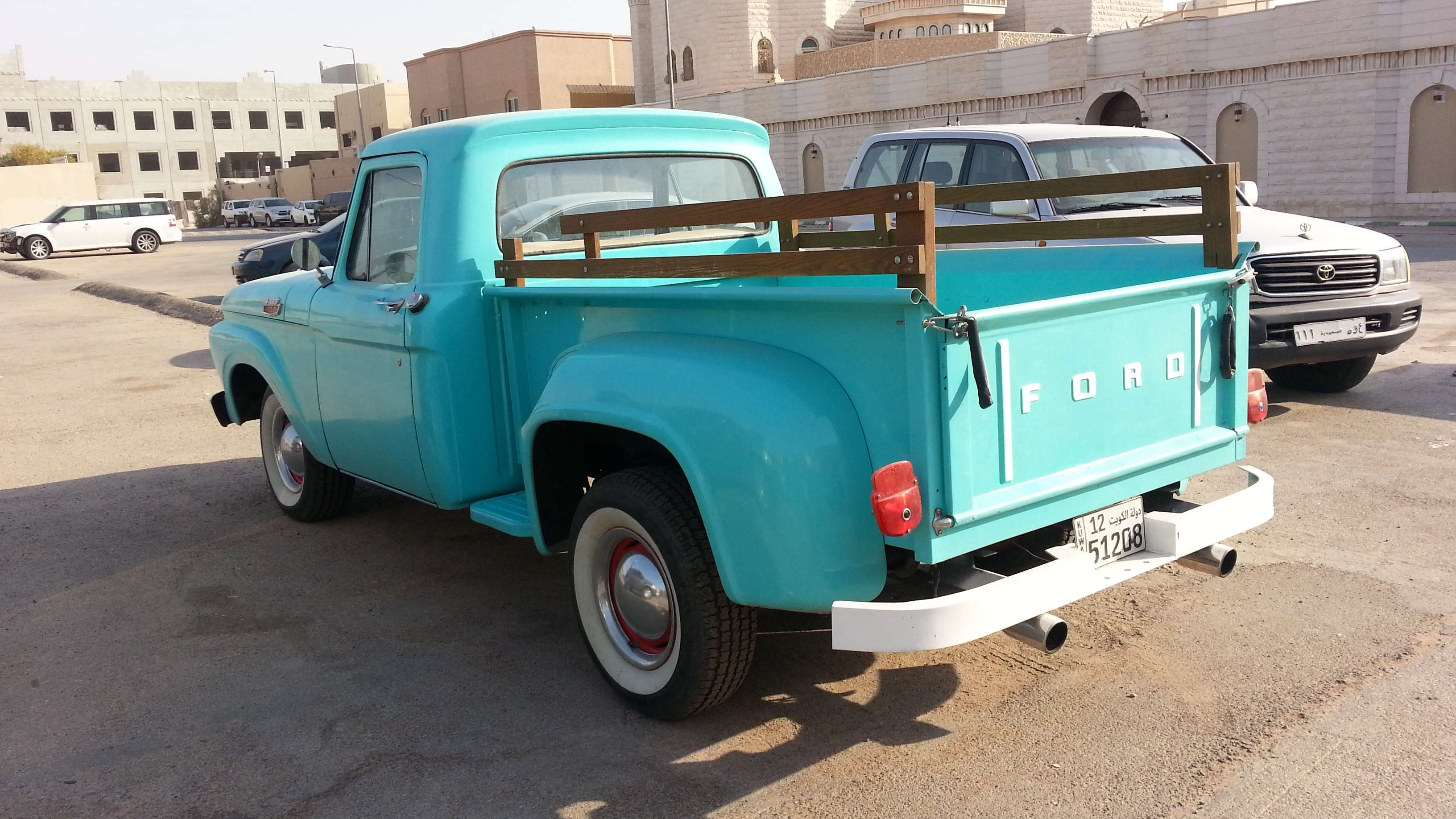 Blue ford truck photo