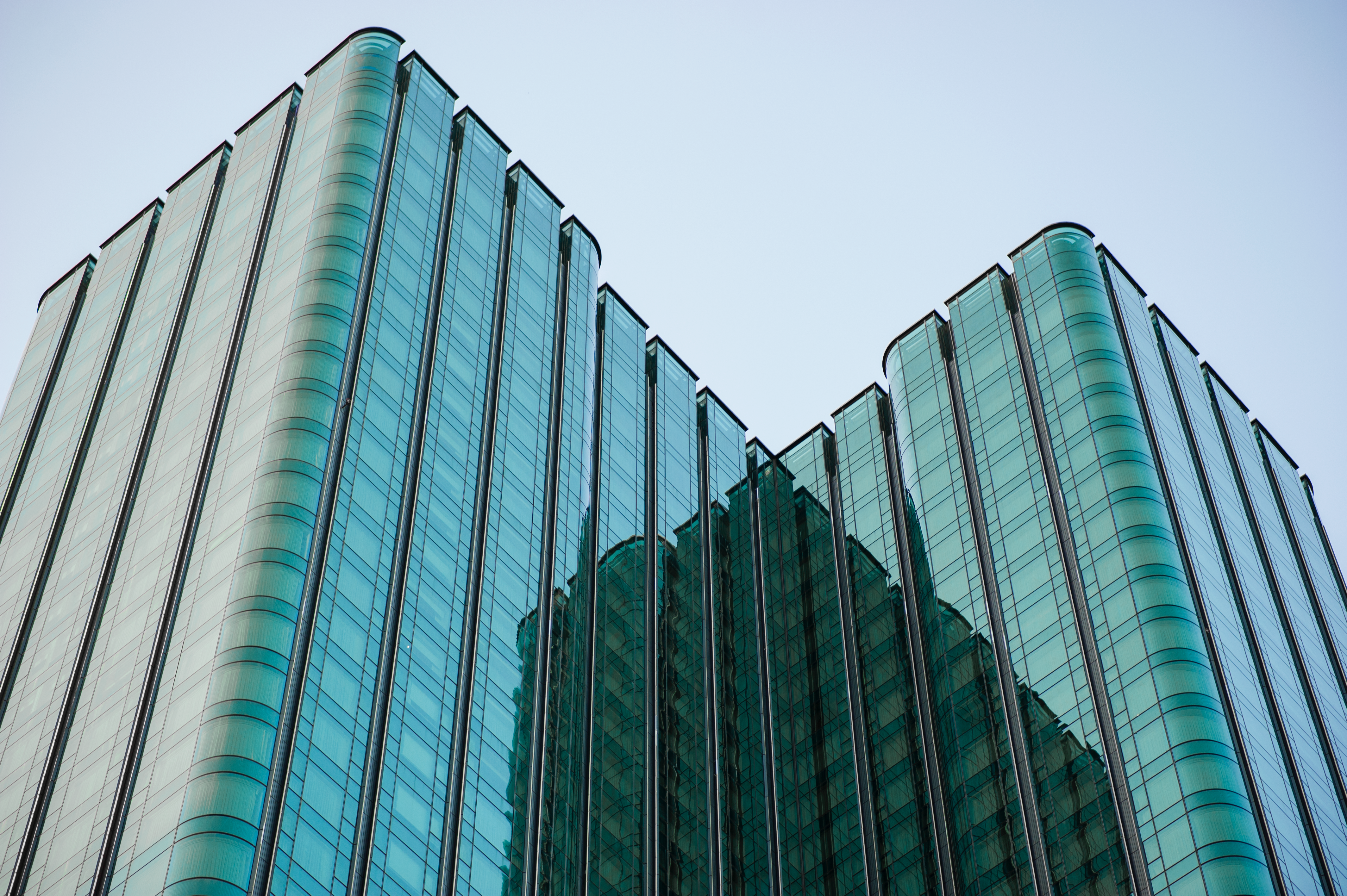 Blue Glass Skyscraper, Office, Windows, Urban, Tower, HQ Photo