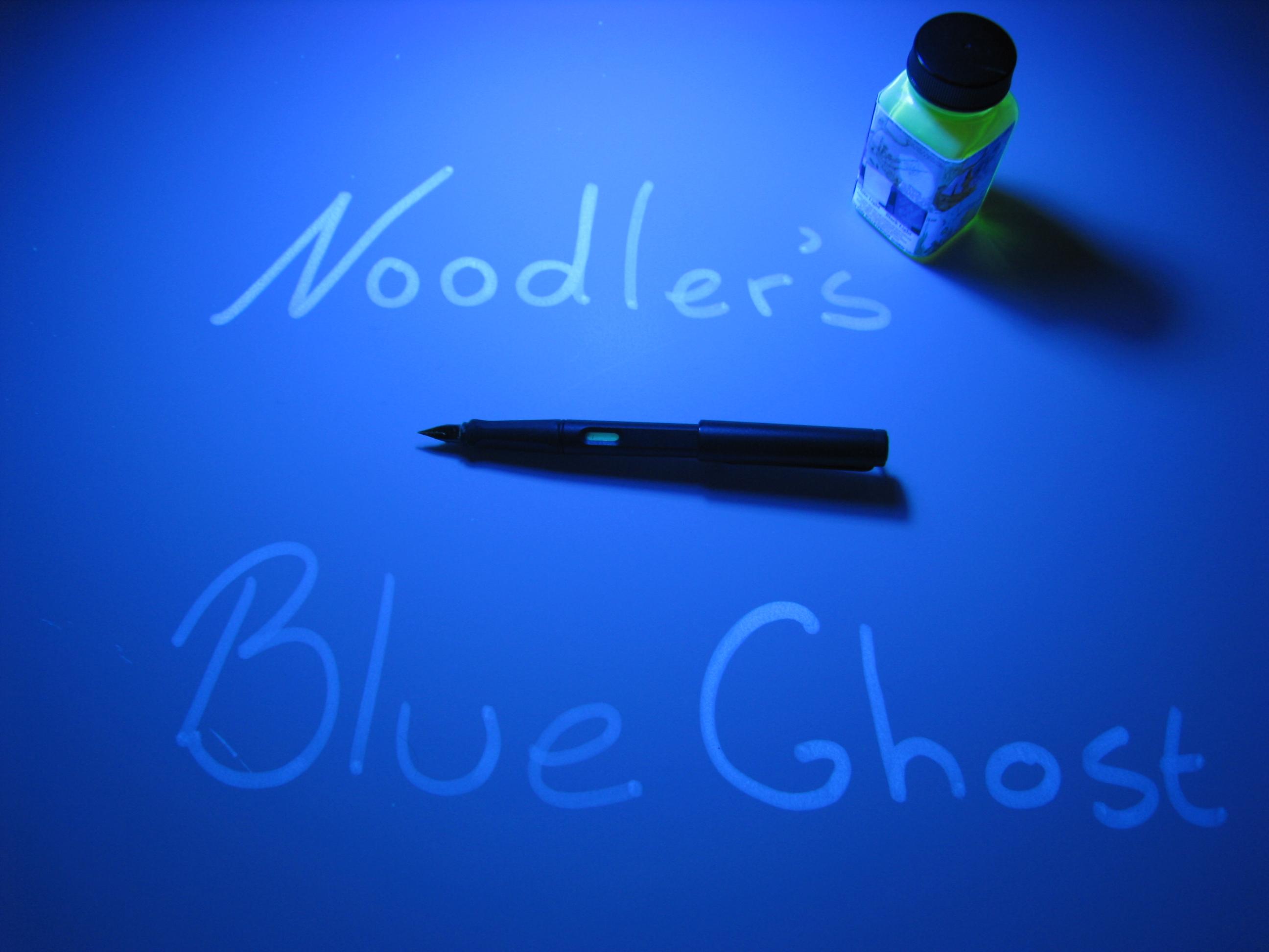 Noodler's Blue Ghost Fluorescent Bulletproof Ink