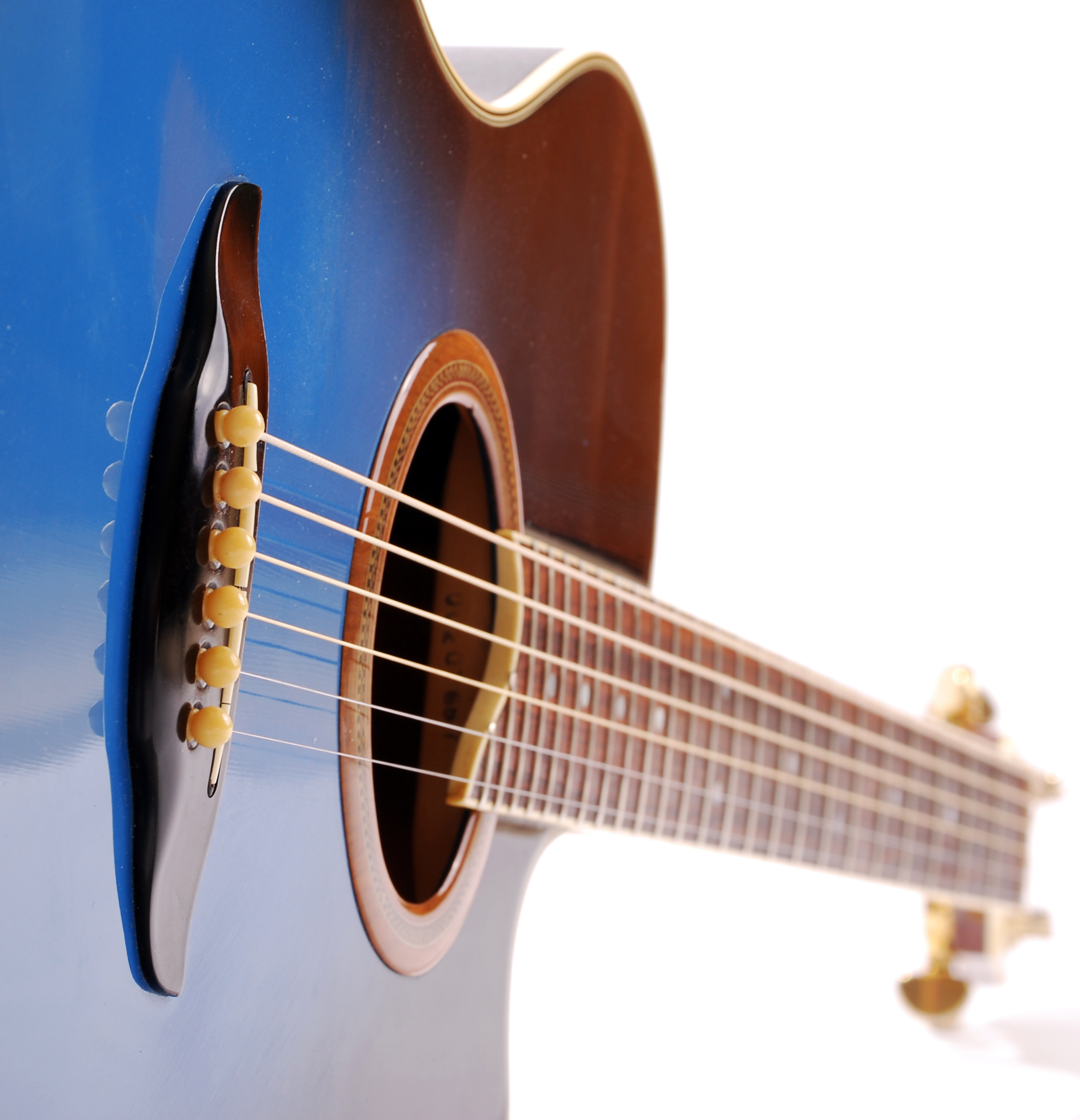 Blue guitar photo
