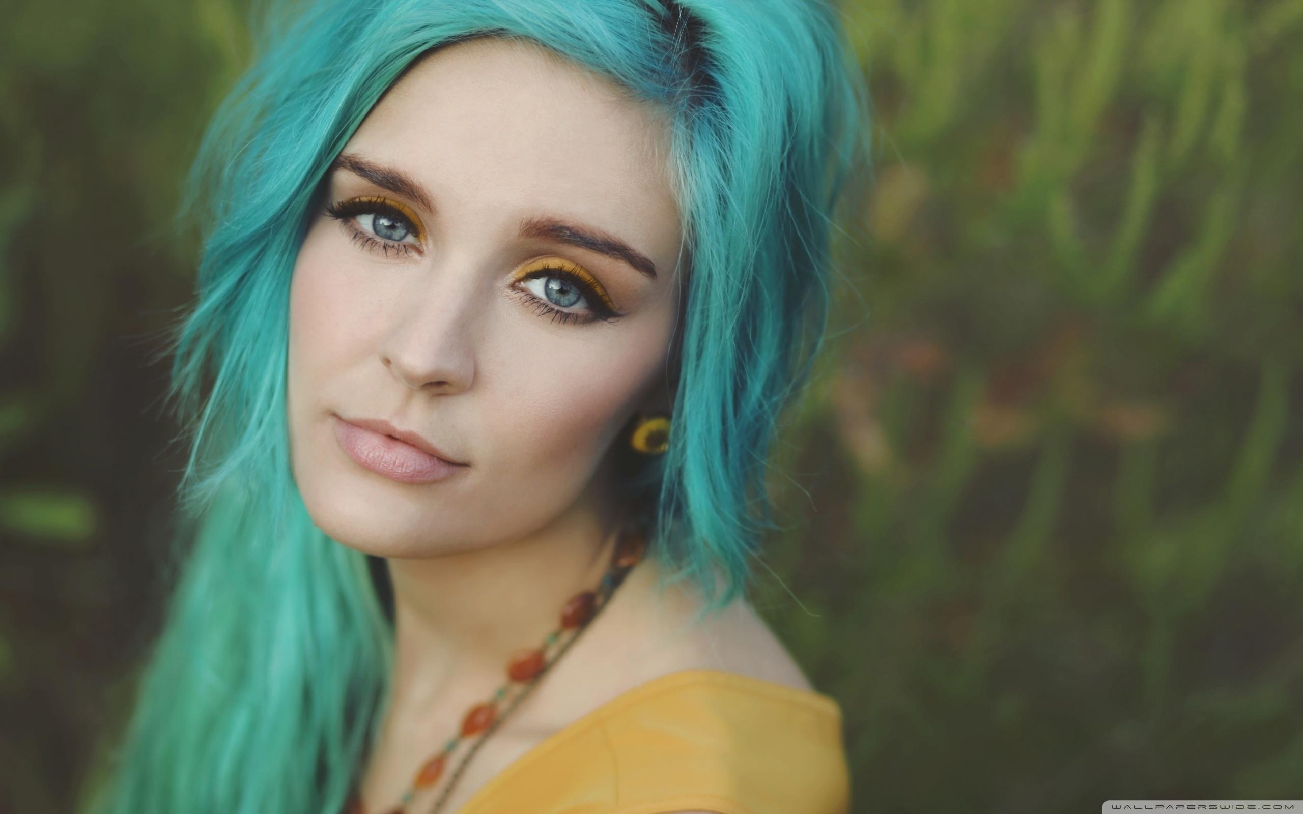Girl With Blue Hair ❤ 4K HD Desktop Wallpaper for 4K Ultra HD TV ...