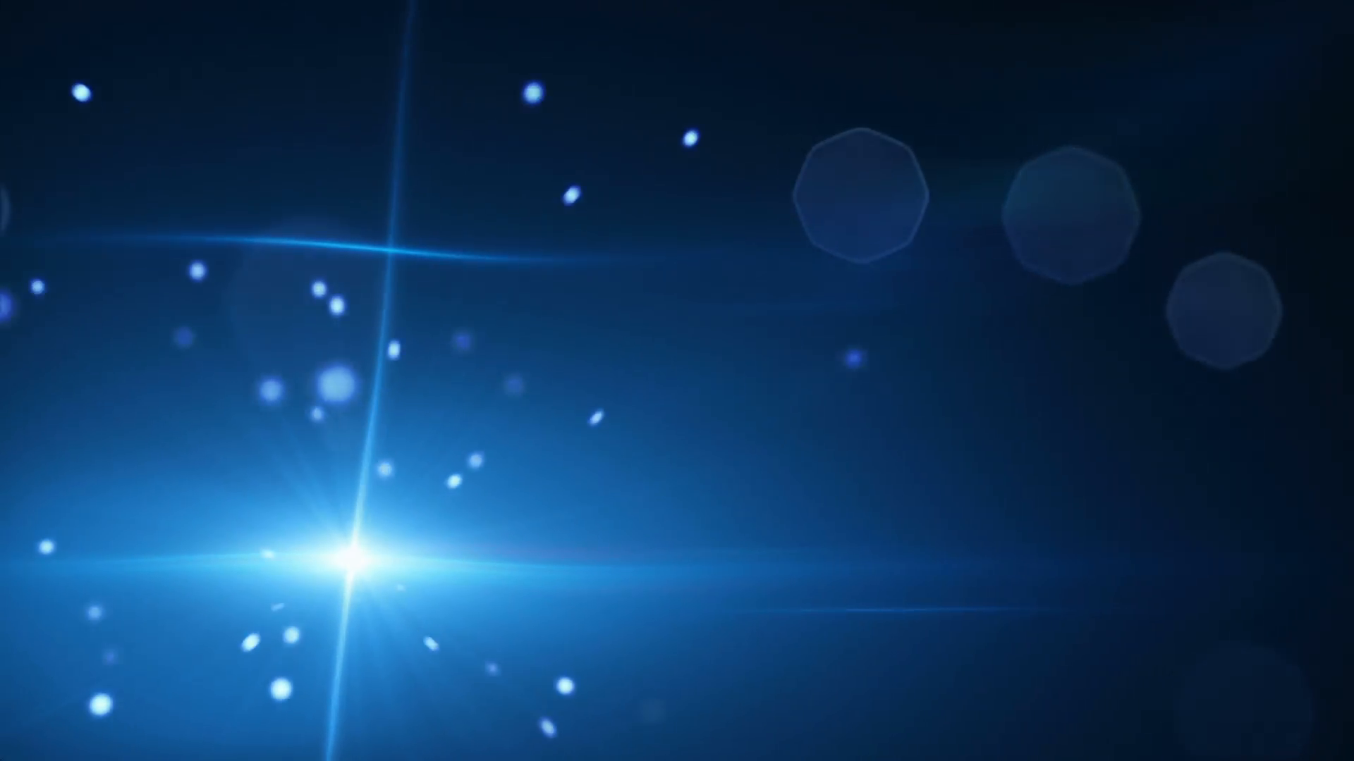 shining blue particles and lens flare loopable background Motion ...
