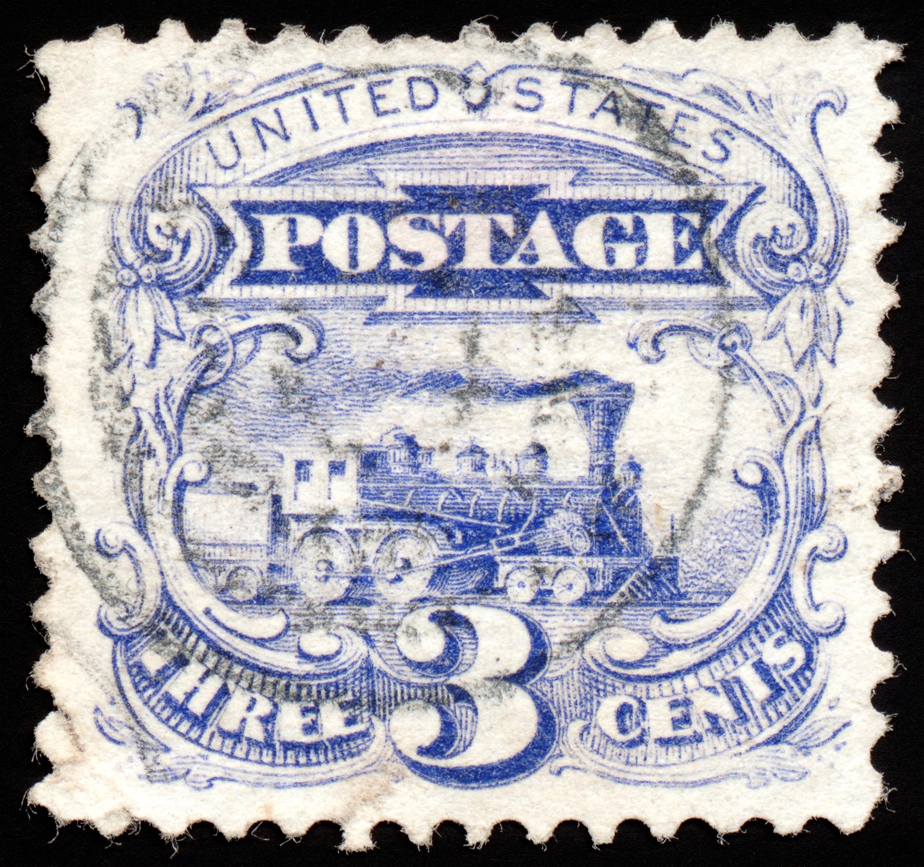 Blue Locomotive Stamp, Res, Scrapbooking, Scrapbook, Scrap, HQ Photo