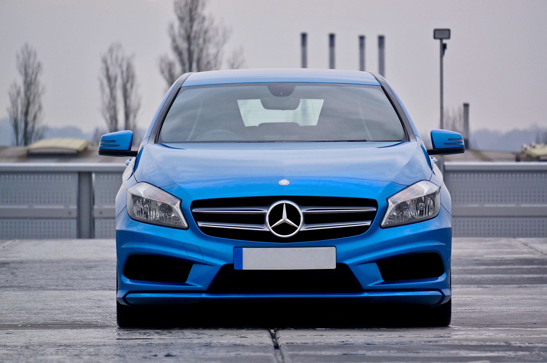 Blue Mercedes Benz Car Parked, Auto, Automobile, Automotive, Car, HQ Photo