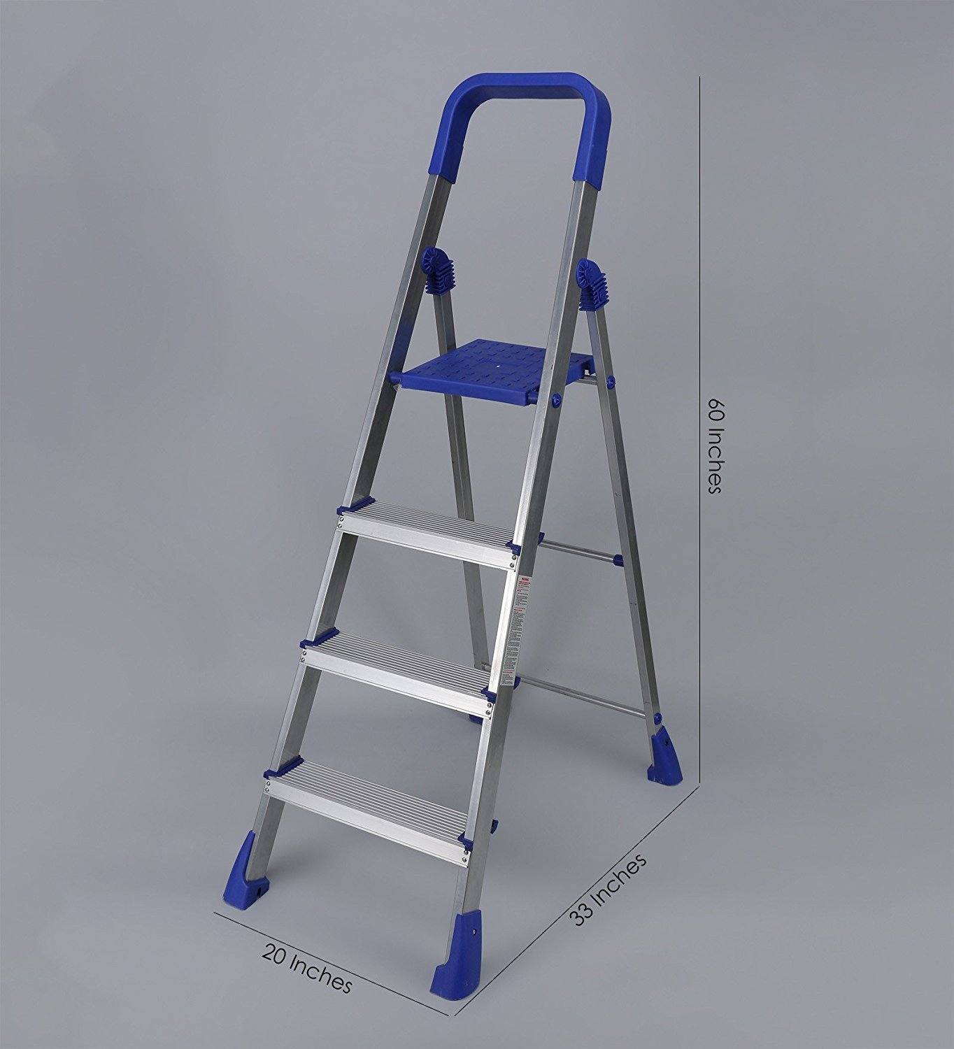 Parasnath Home Pro Aluminium Heavy Folding Ladder With 4 Wide Steps ...