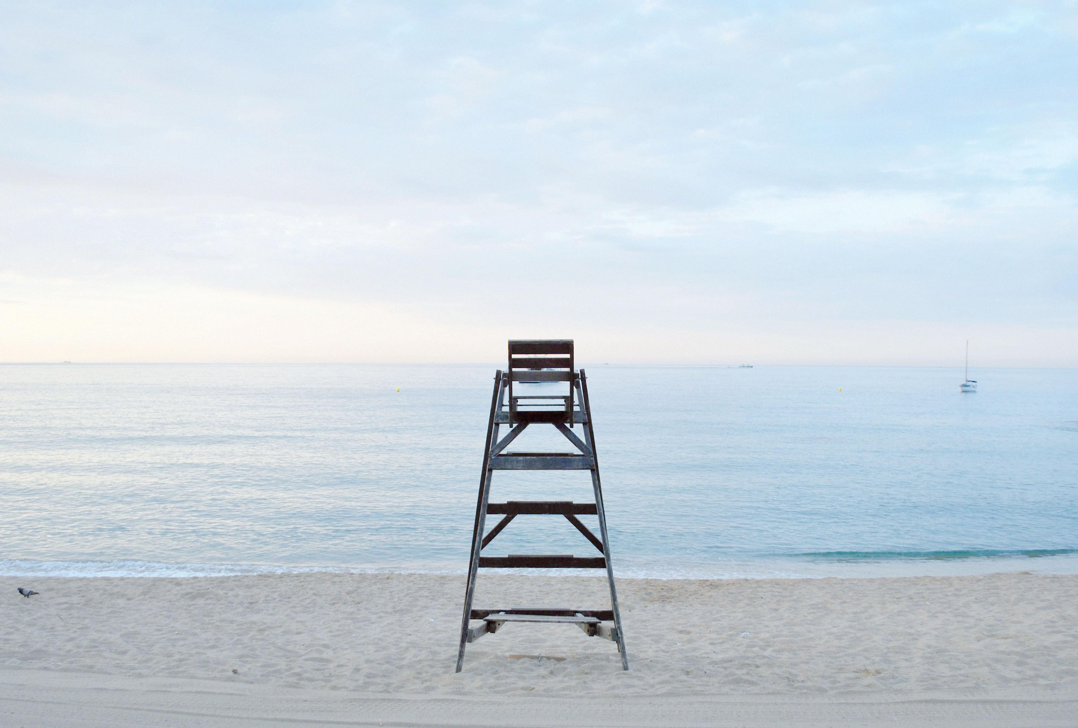 Grey Metal Step Ladder Near Beach during Daytime · Free Stock Photo