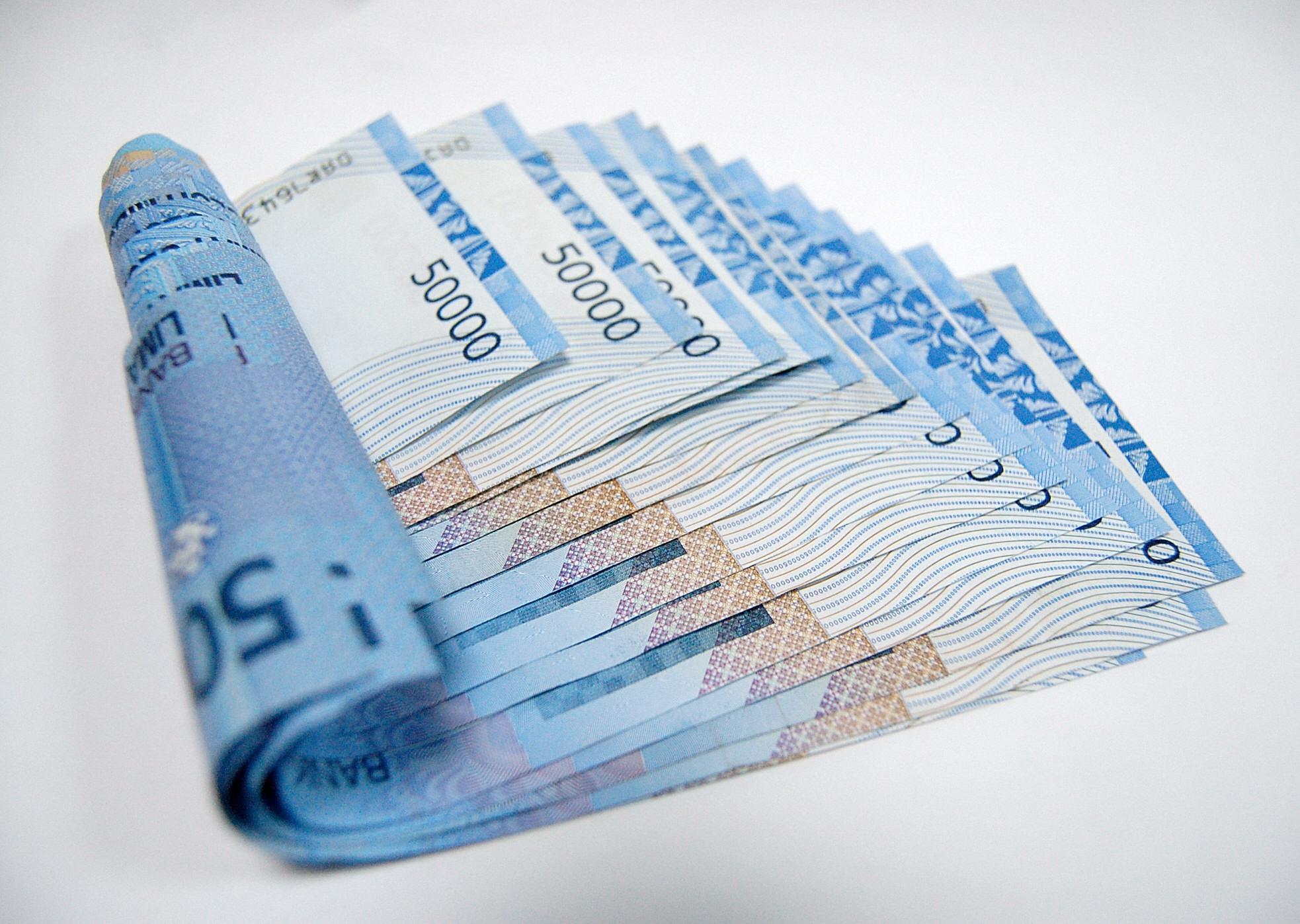 Blue money photo