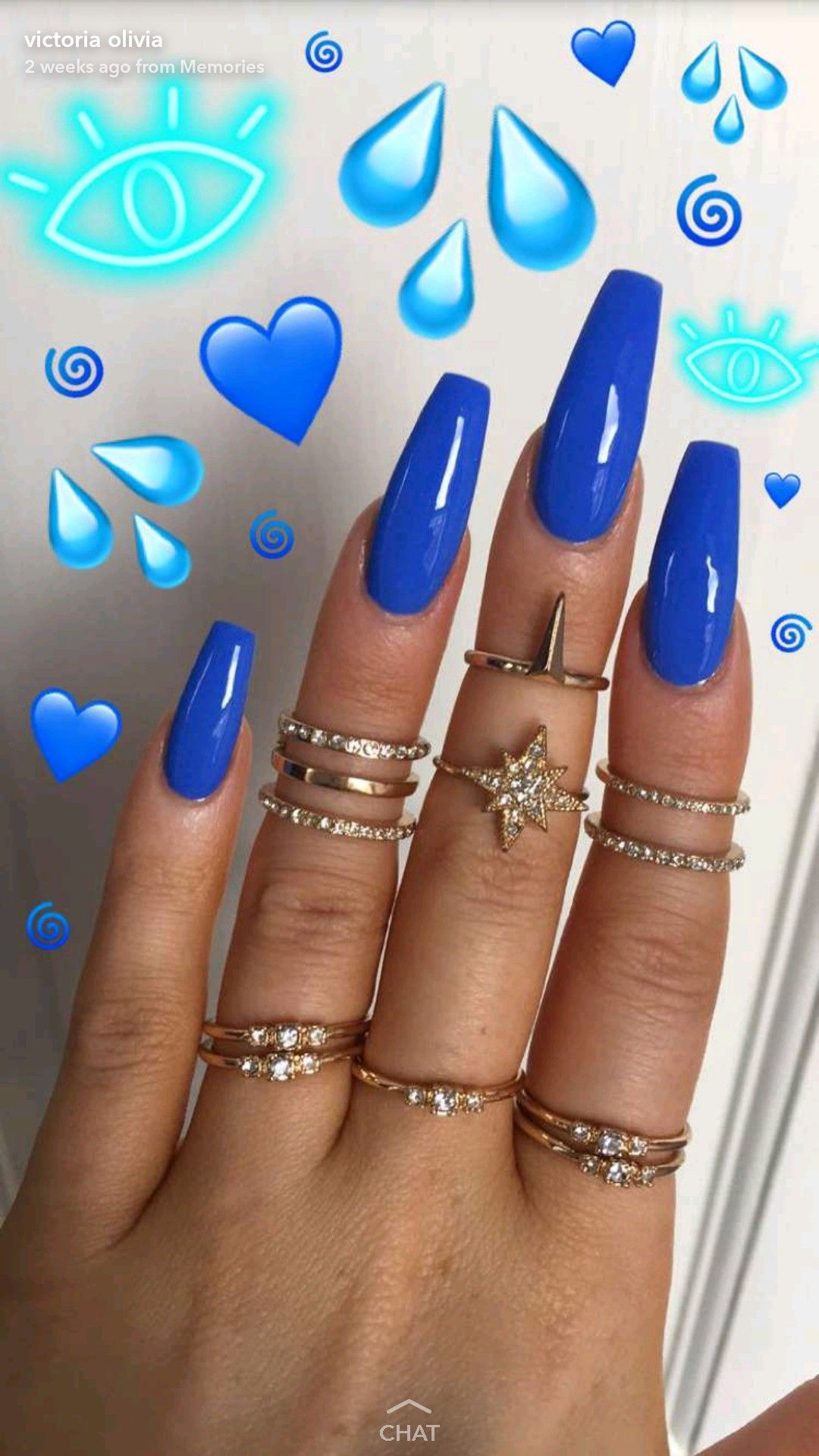 Nice ocean blue nails | Nails | Pinterest | Blue nails, Nail inspo ...