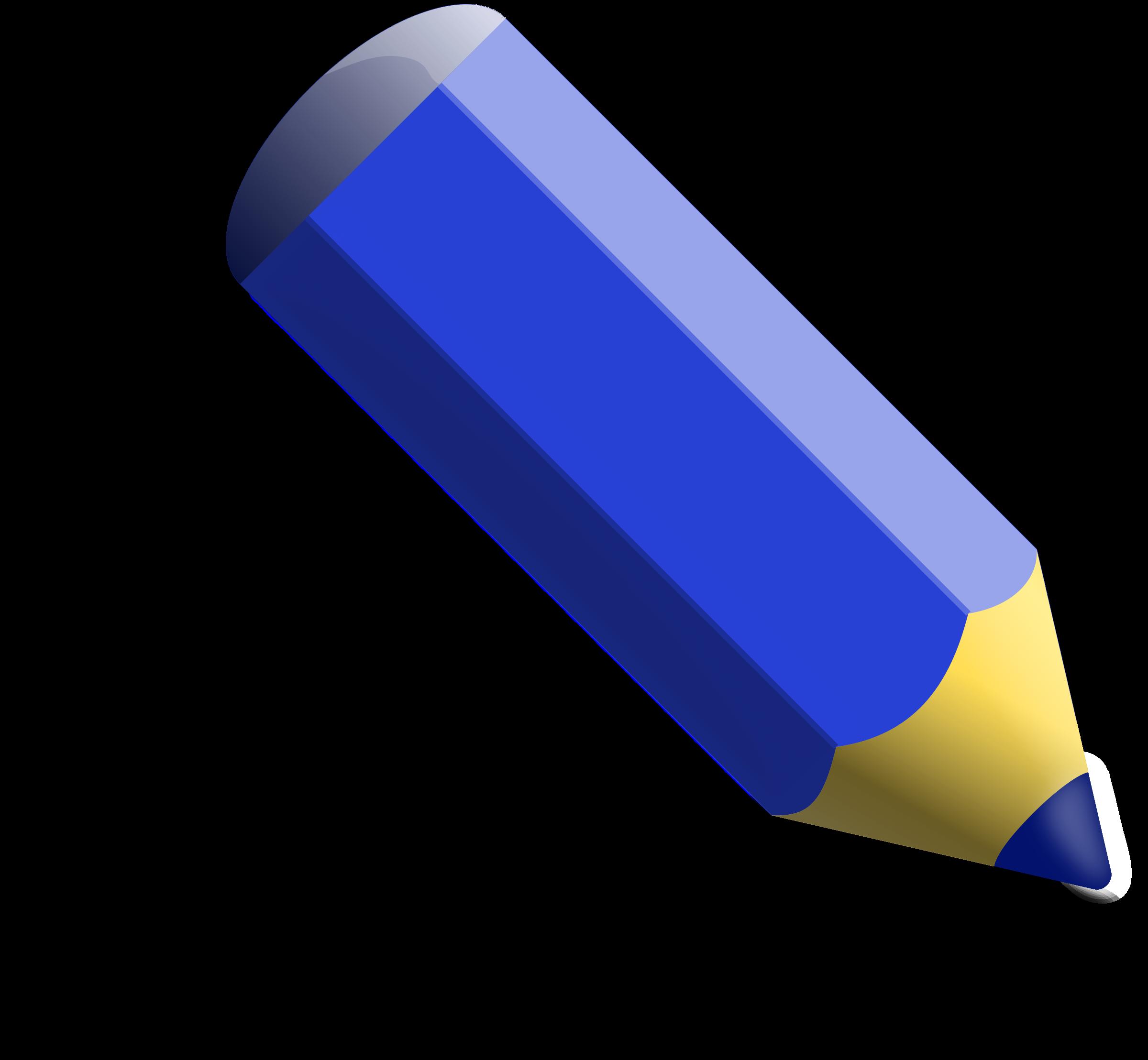 Clipart - Blue pencil