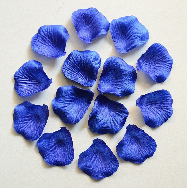 Royal Blue Rose Petals Bulk Silk Rose Petals Fake Flower