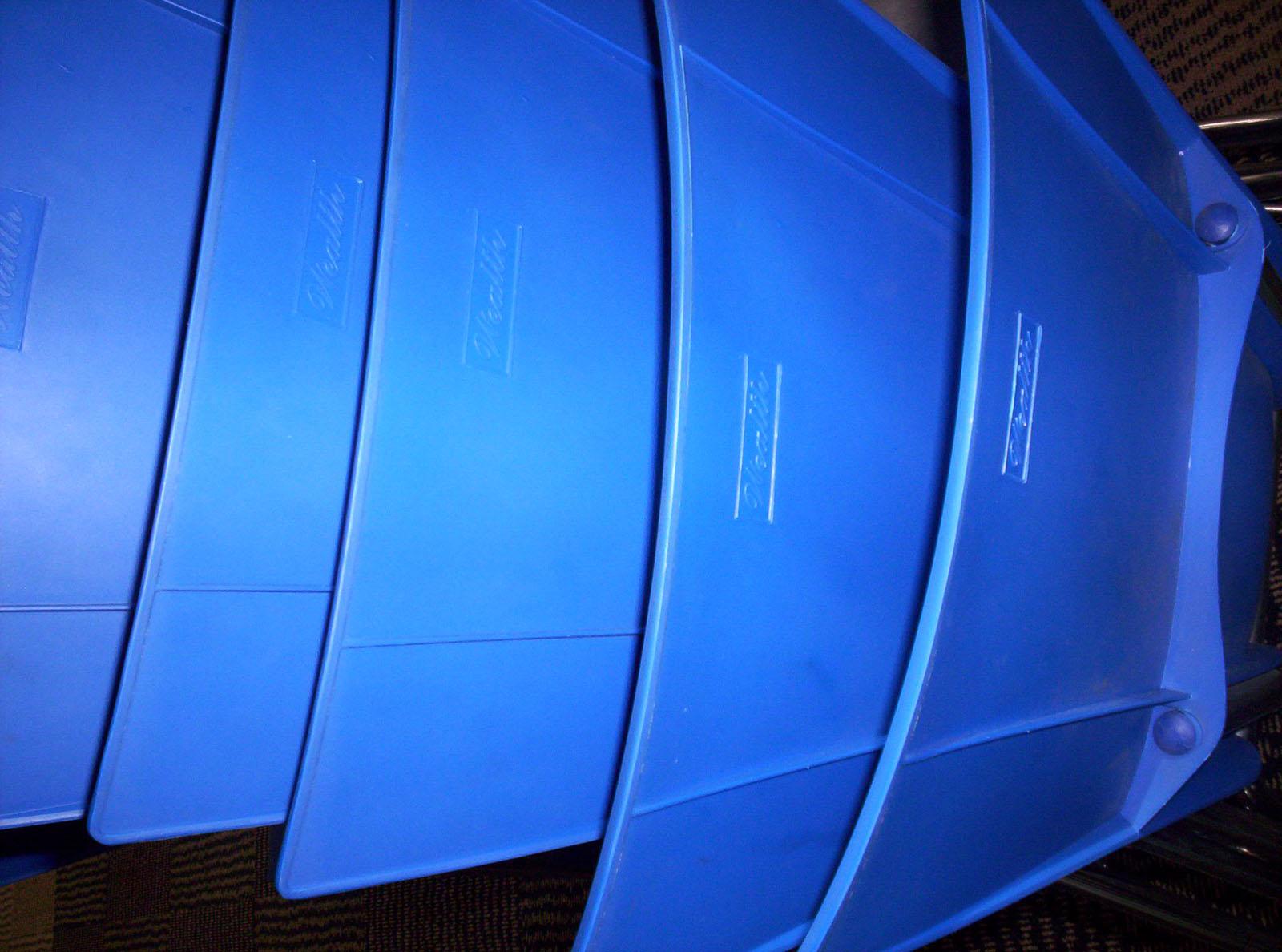 Blue plastic photo