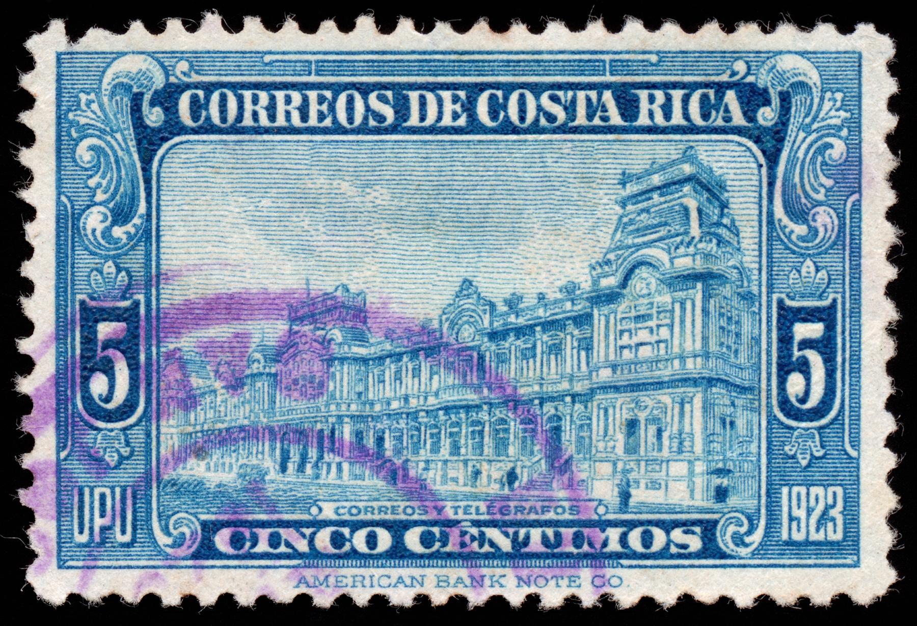 Blue Post Building Stamp, Rectangle, Postmark, Rectangular, Resource, HQ Photo