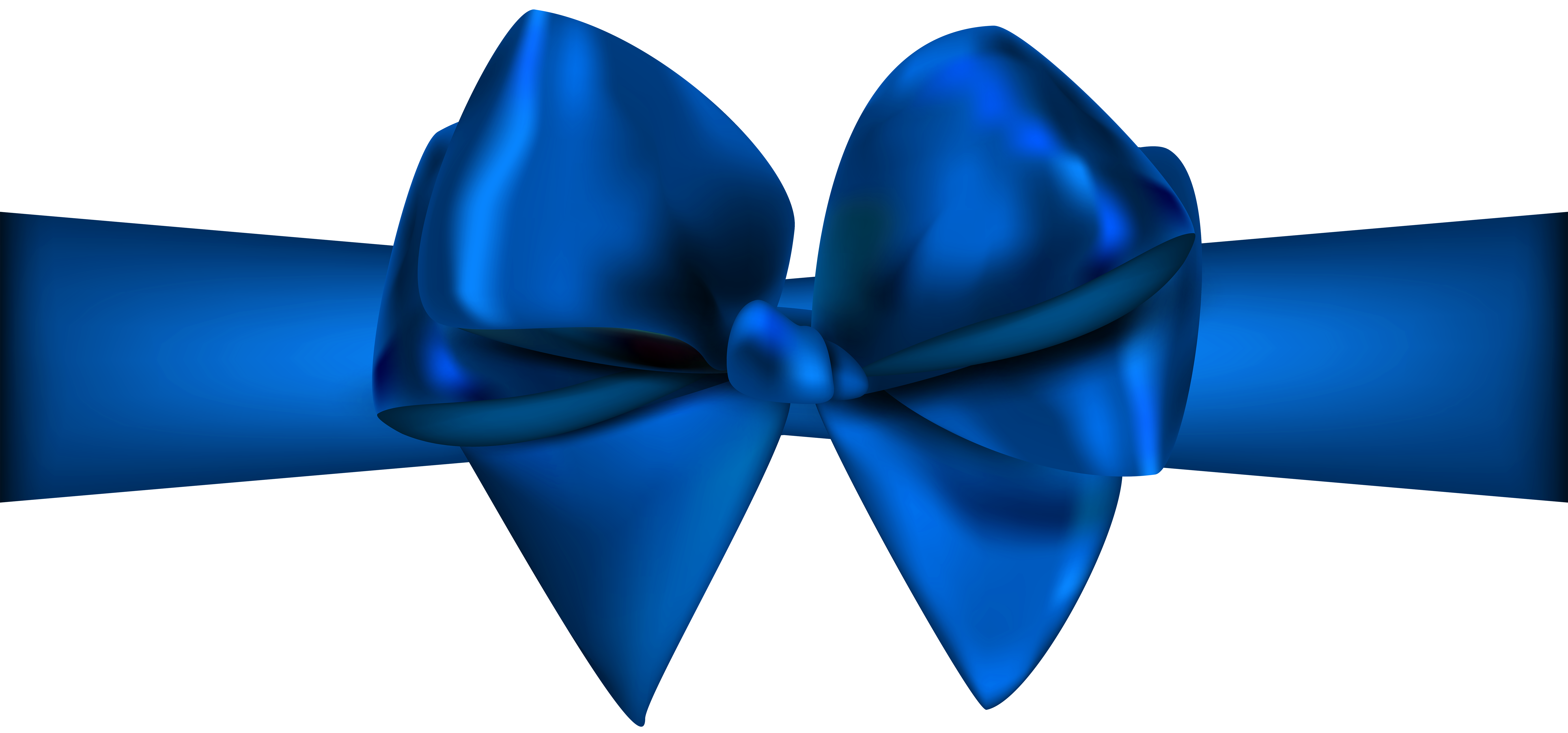 Blue Ribbon with Bow PNG Clip Art - Best WEB Clipart