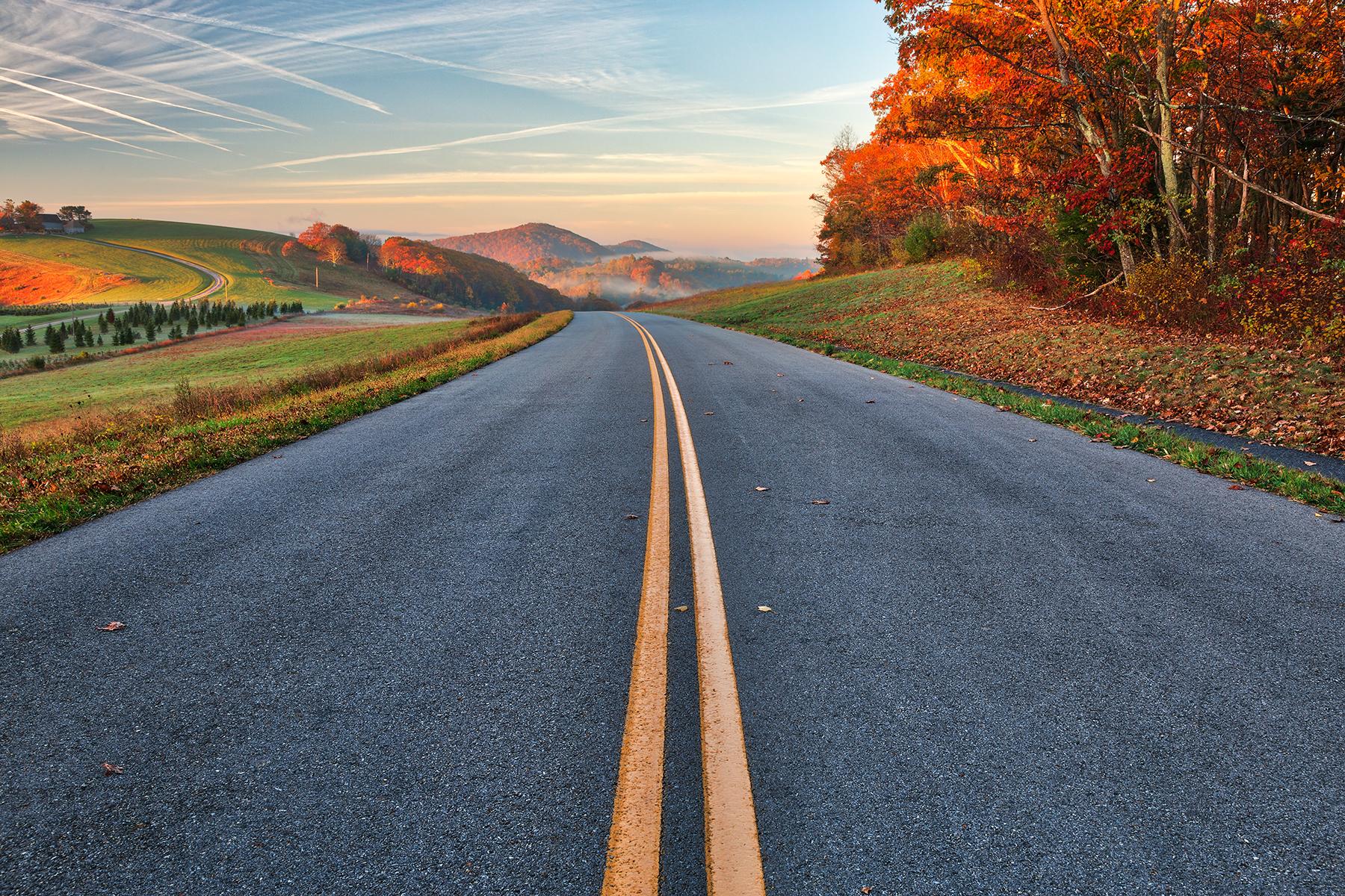 Blue ridge autumn parkway - hdr photo