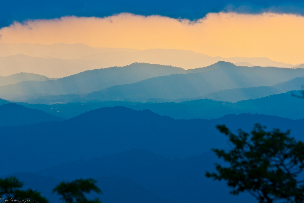 Blue ridge parkway, Parkway, Trees, Sunset, Sky, HQ Photo