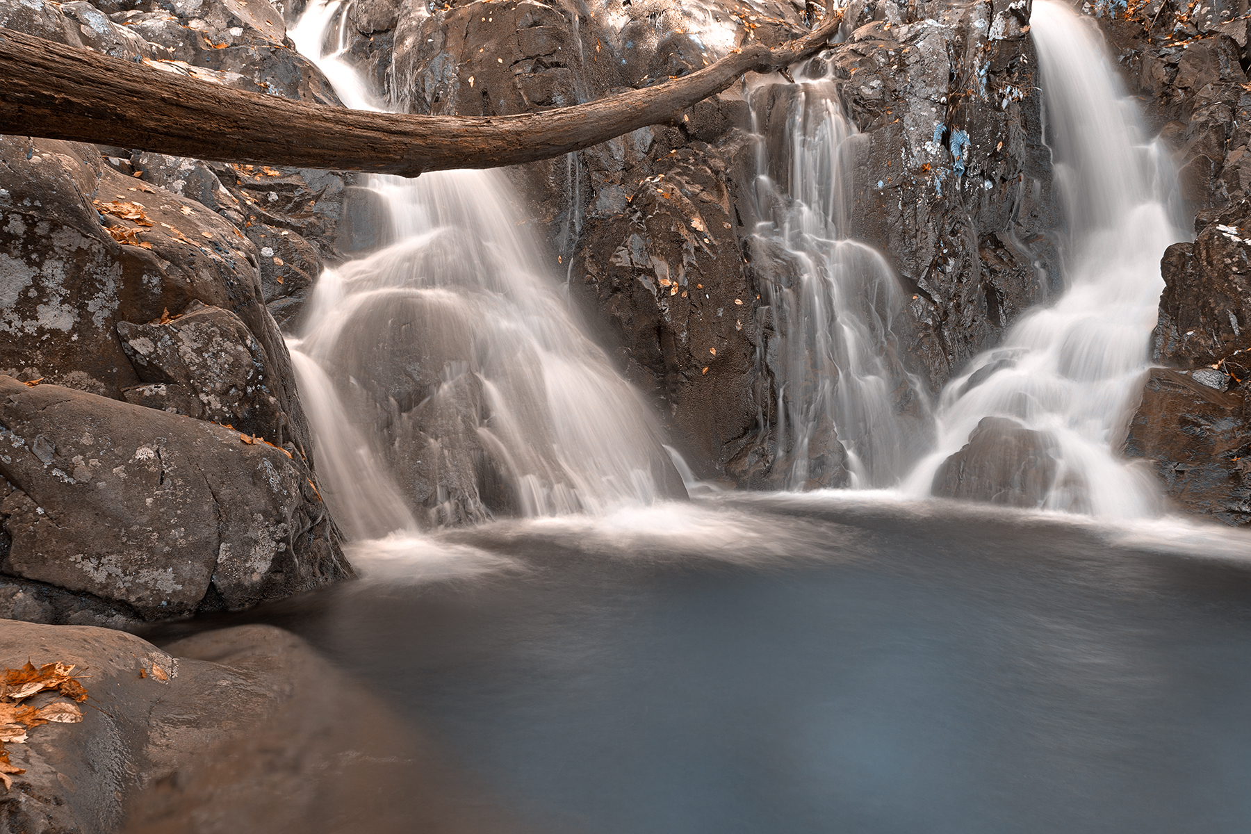 Blue rose river falls - hdr photo
