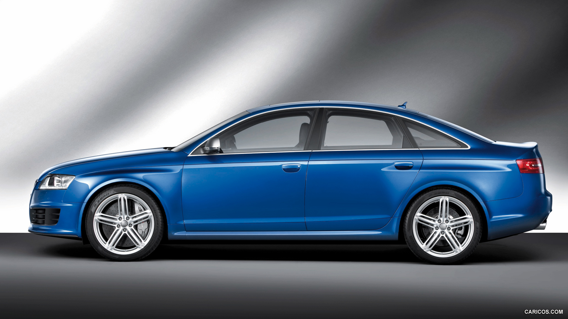 2009 Audi RS6 Sedan Blue - Side | HD Wallpaper #5