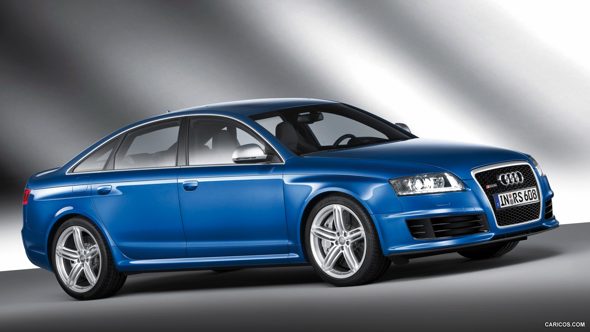 2009 Audi RS6 Sedan Blue - Side | HD Wallpaper #7