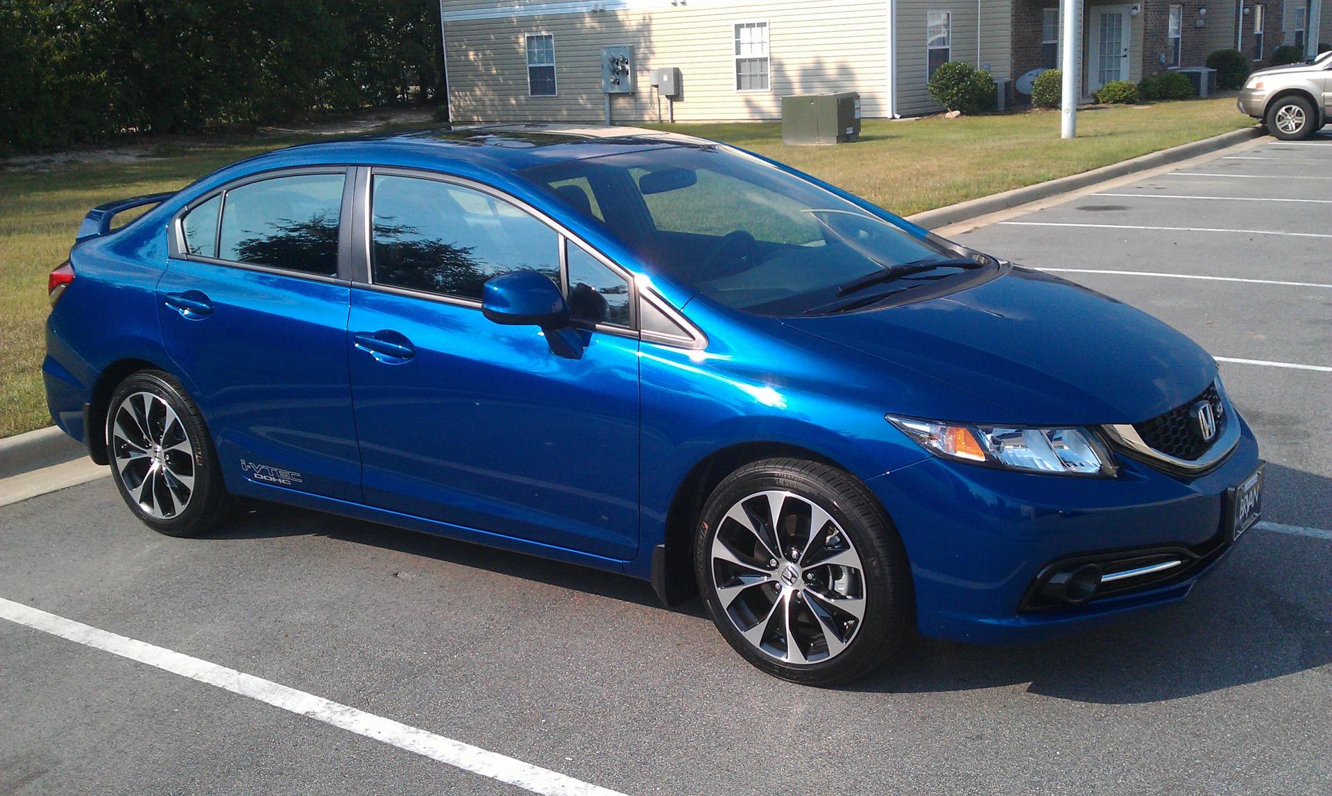 2013 Si Dyno Blue Sedan