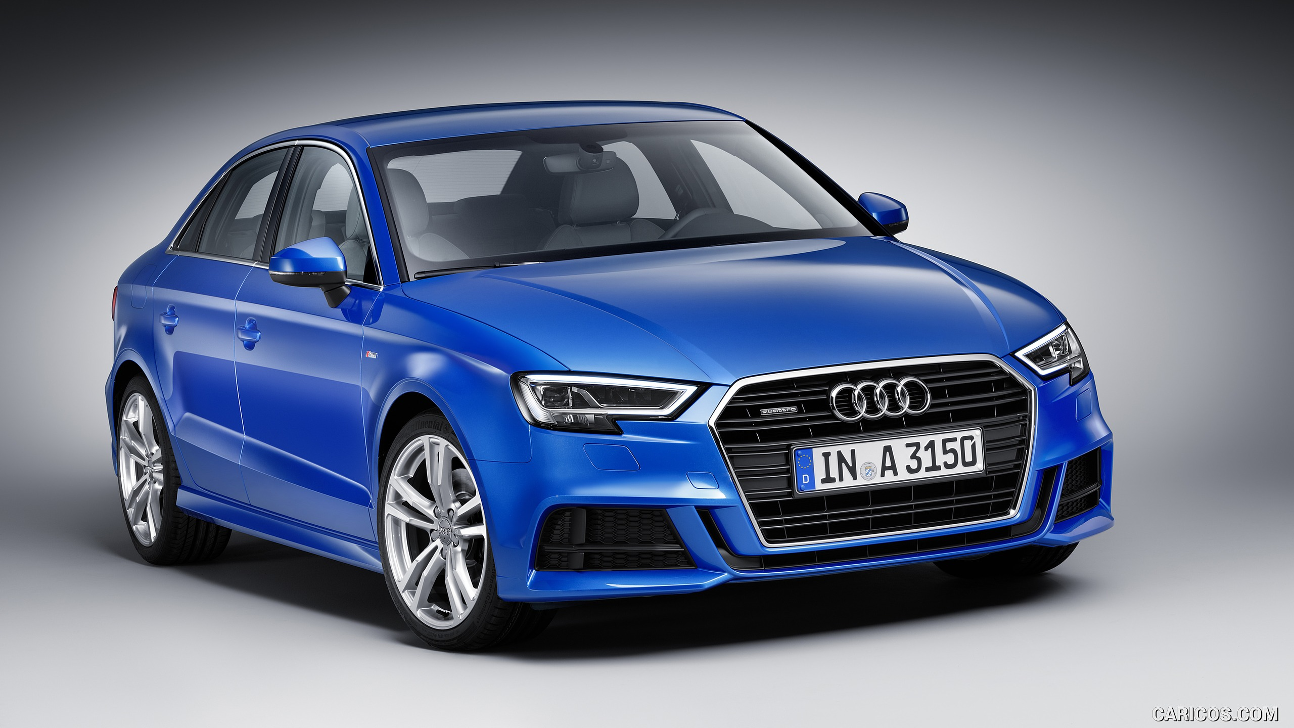 2017 Audi A3 Sedan (Color: Ara Blue) - Front | HD Wallpaper #6