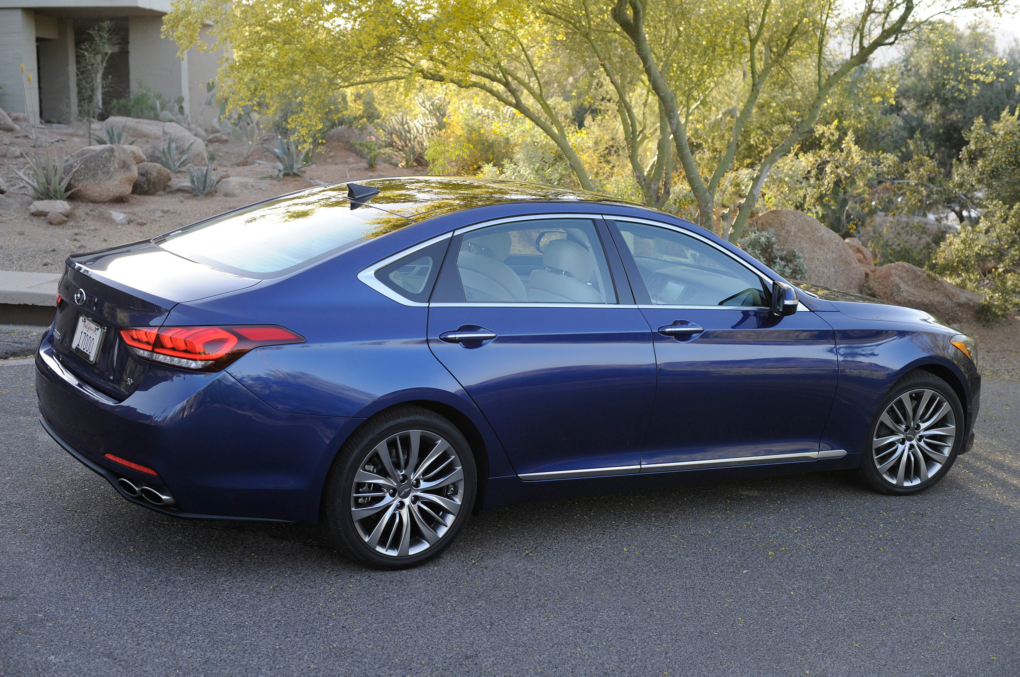 2015 Hyundai Genesis Sedan Rear Side View Blue Photo #65454899 ...