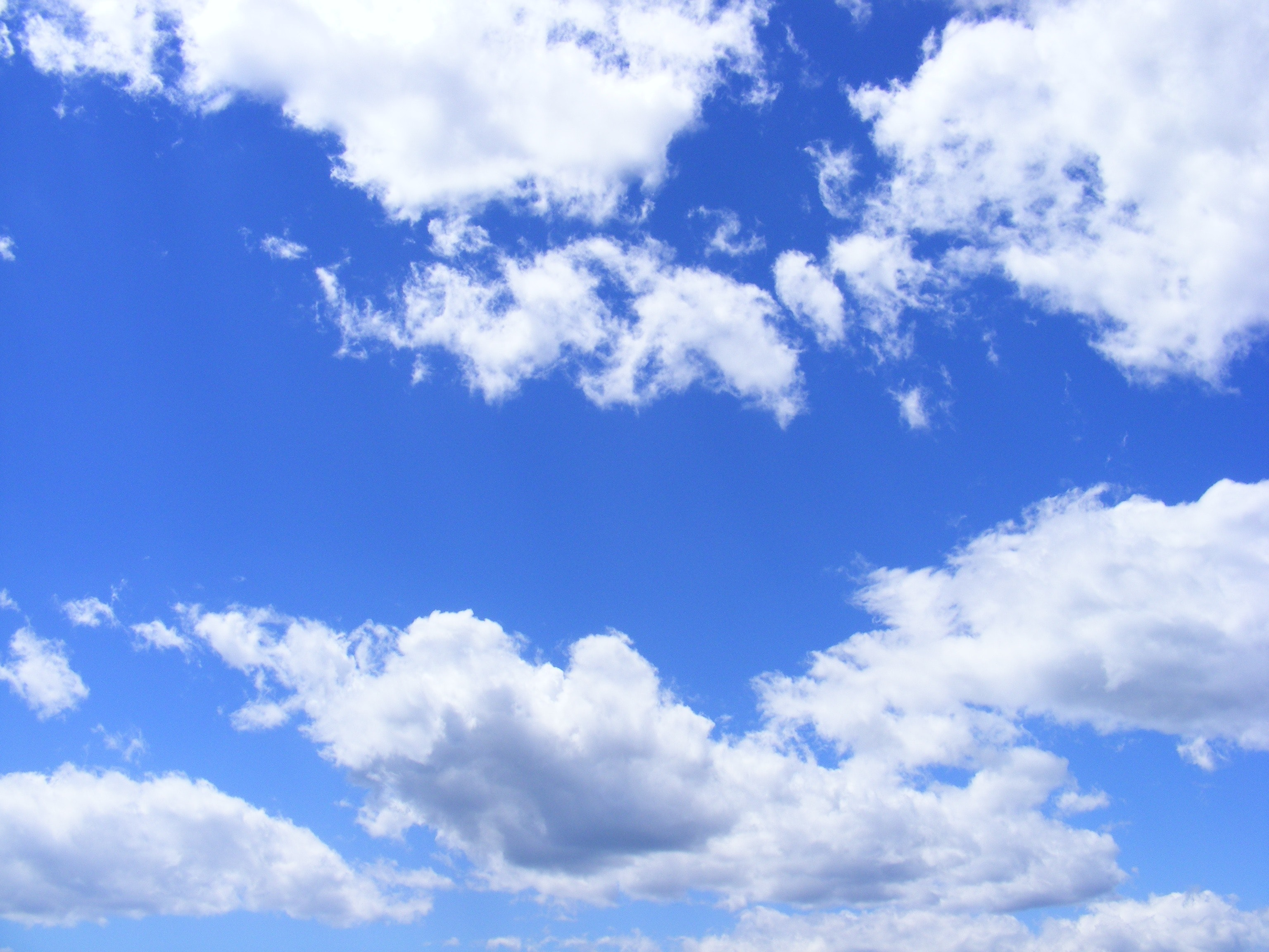 Blue Skies, Blue, Clouds, Day, Nature, HQ Photo