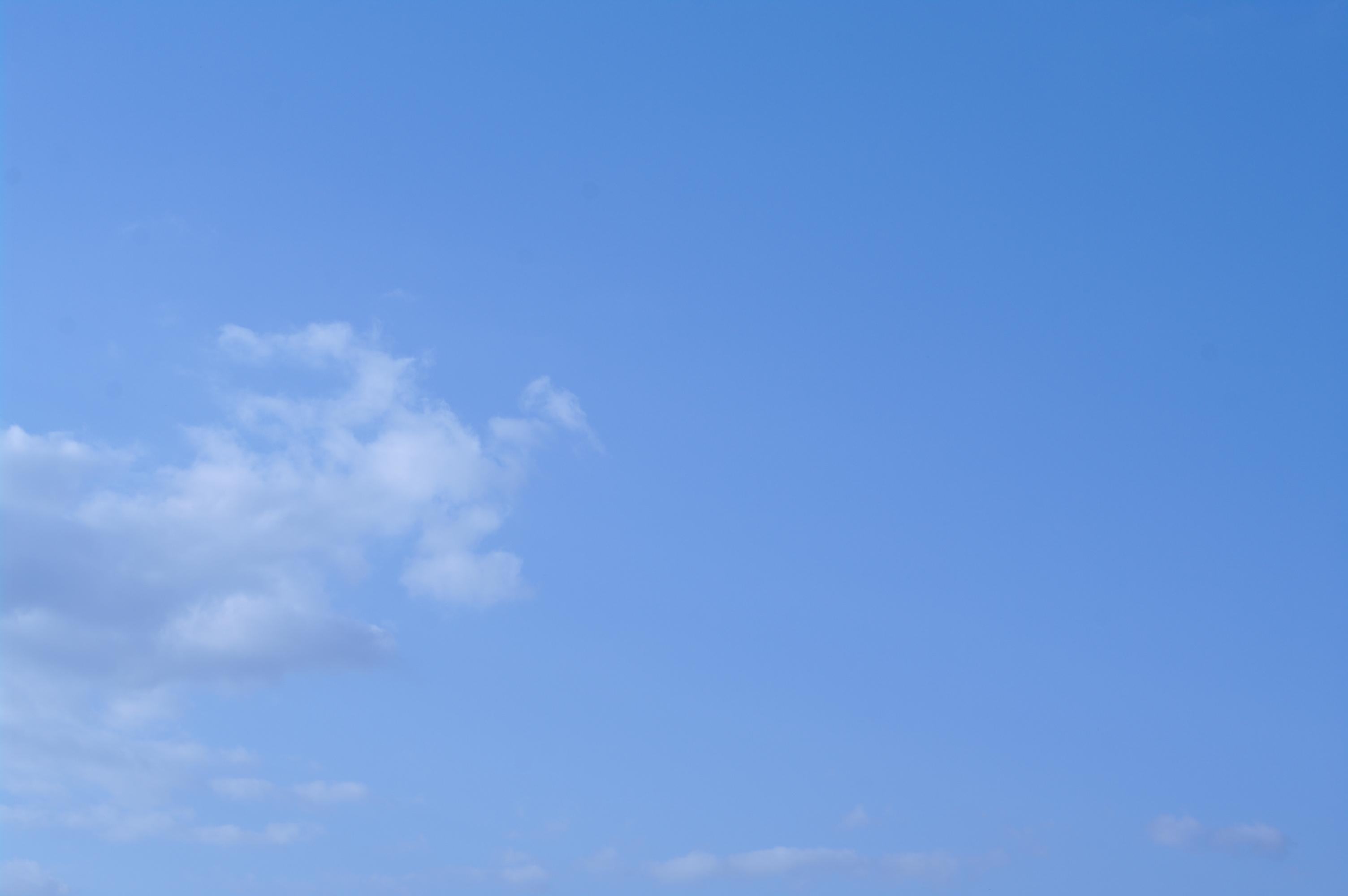 Blue sky, Beautiful, Blue, Clouds, Nature, HQ Photo