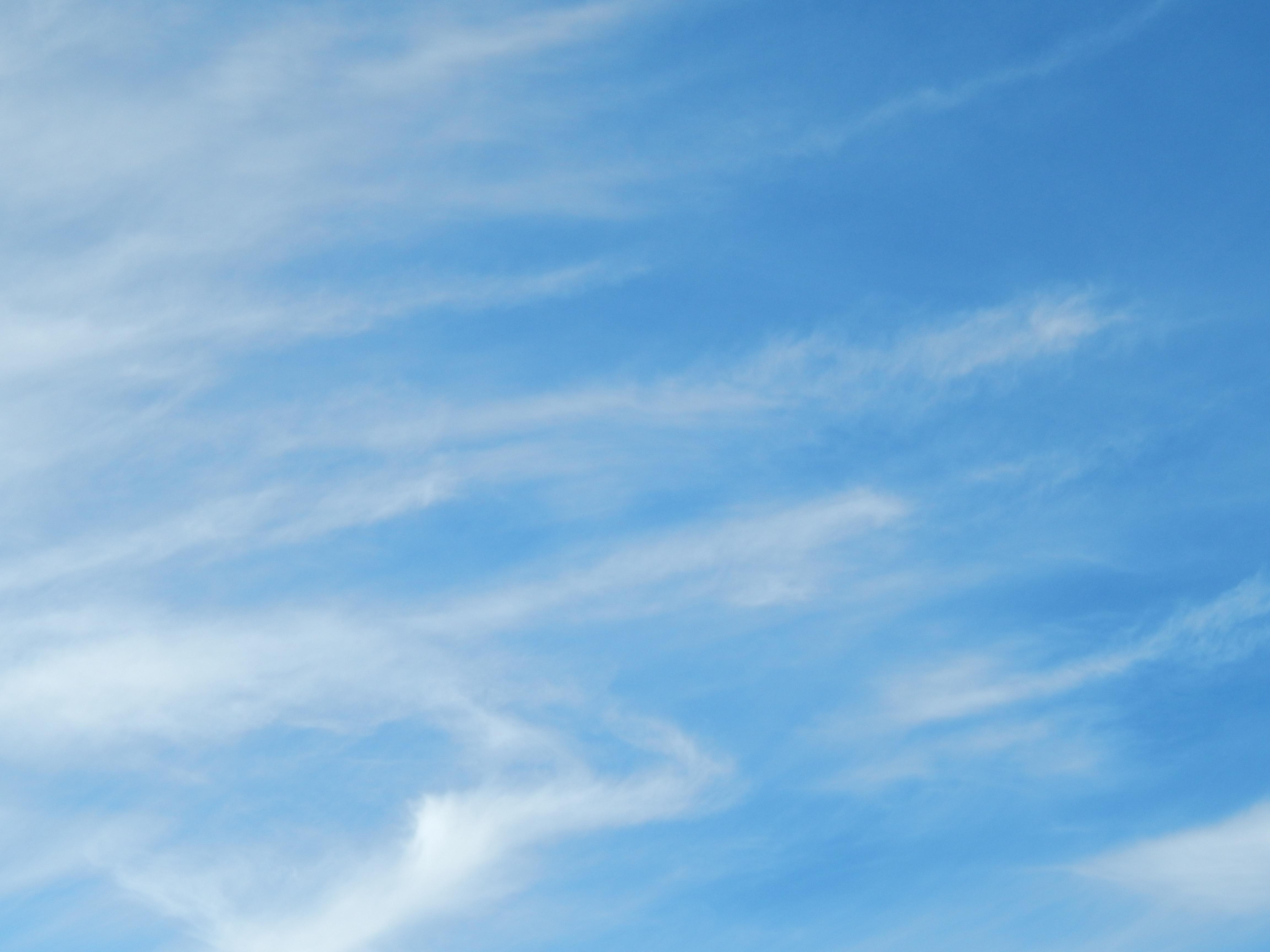 Blue Sky, Blue, Clouds, Sky, HQ Photo