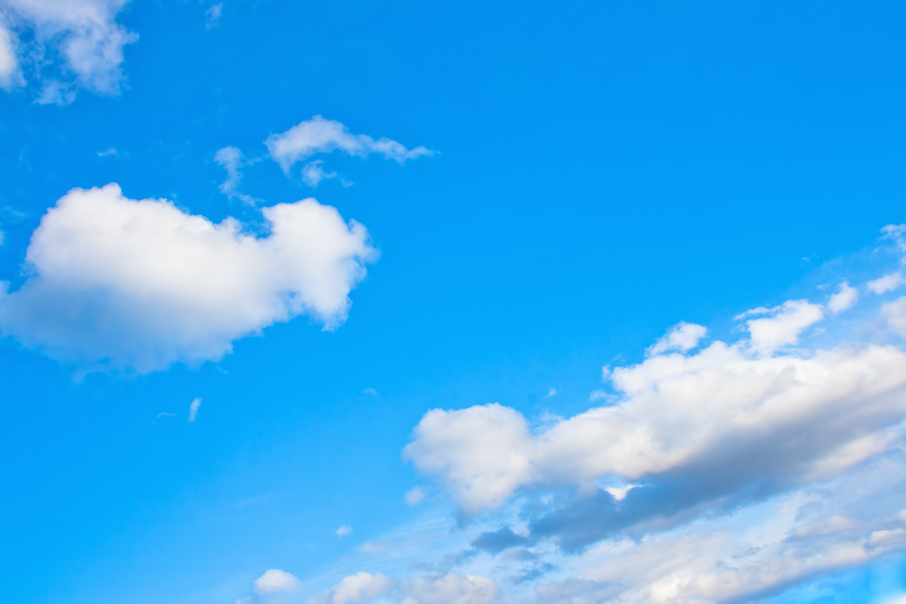 blue sky, Blue, Bright, Cloud, Nature, HQ Photo