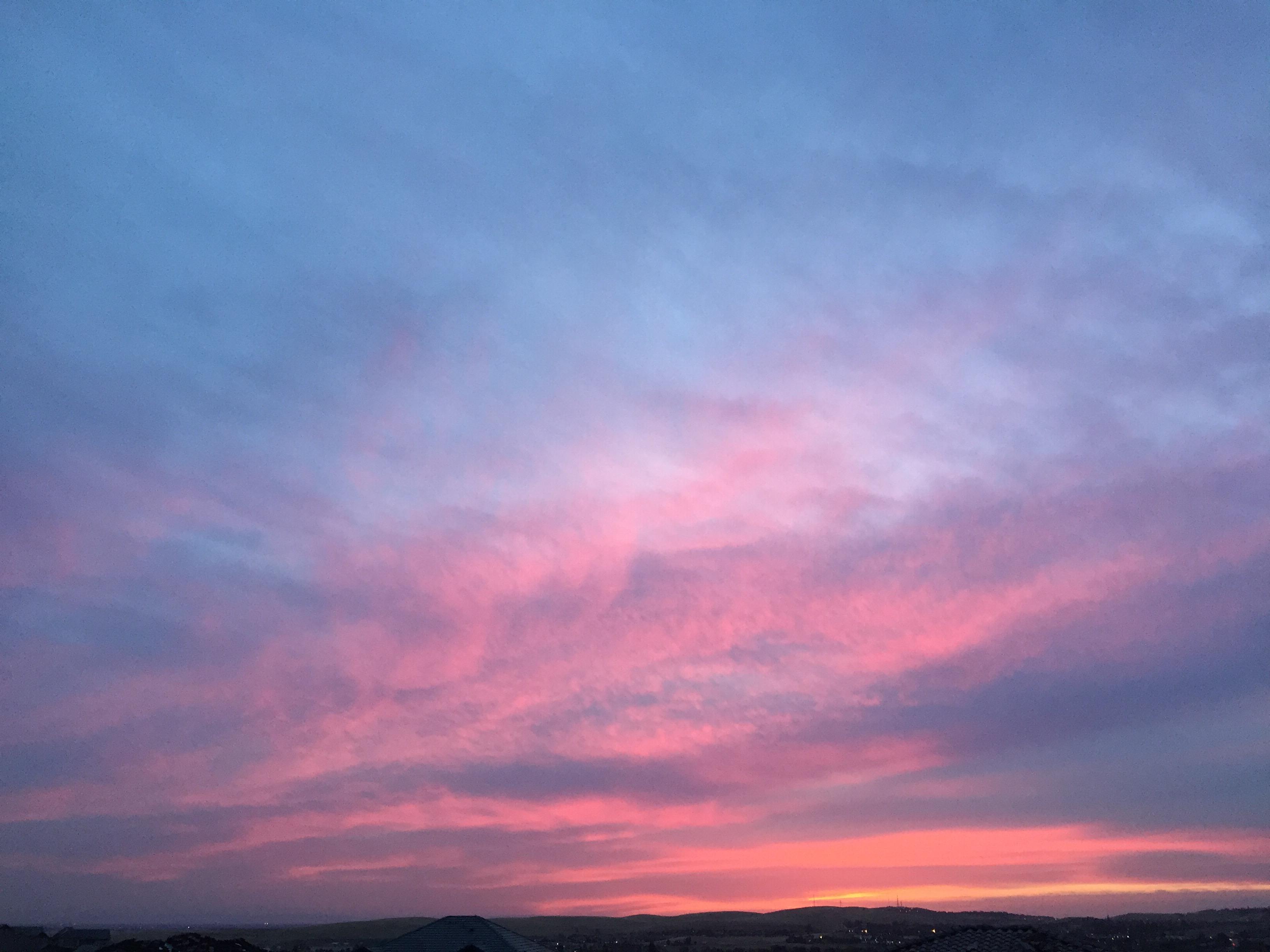 Just before dawn blue sky sunset - El Dorado Sunset