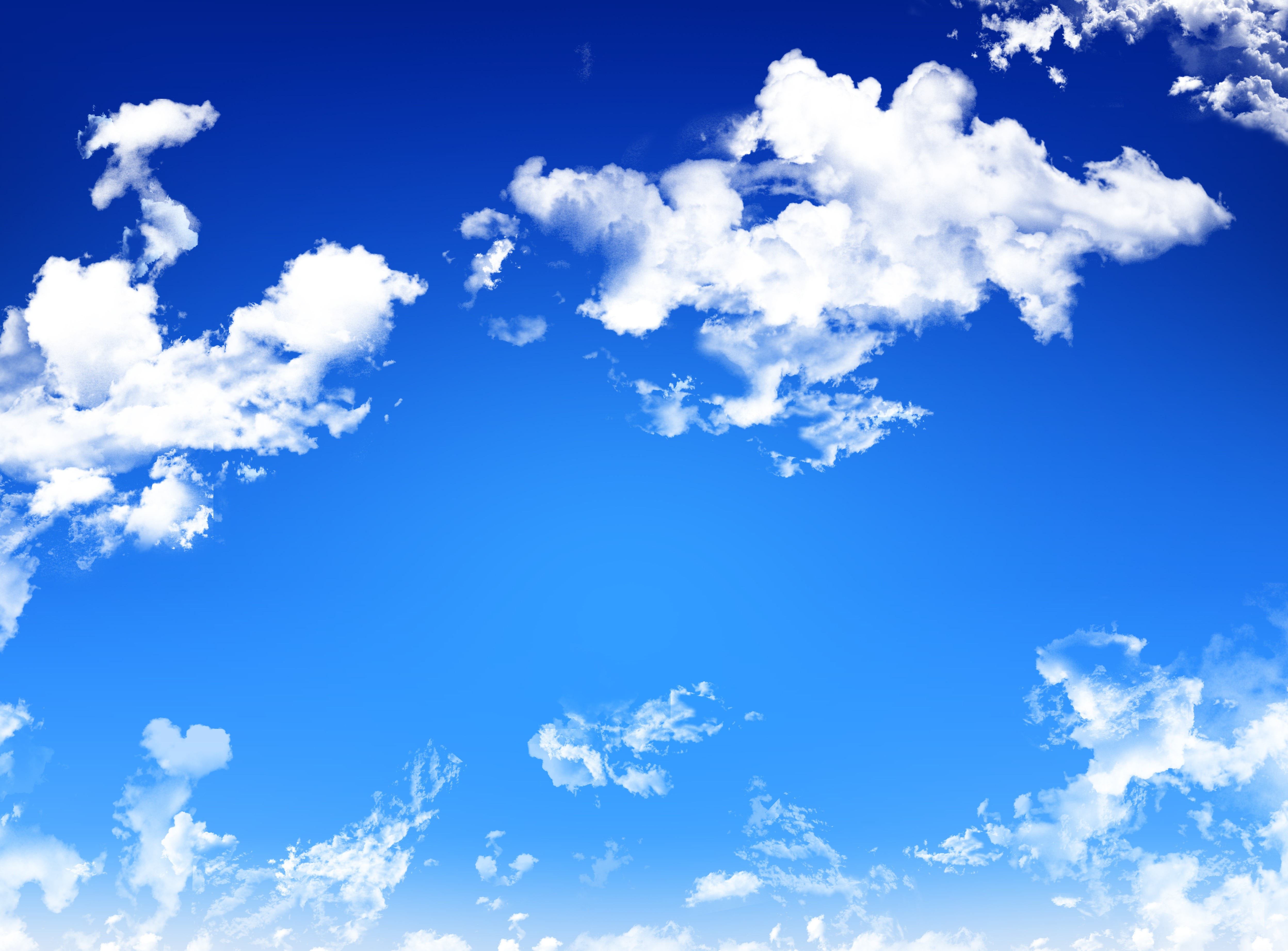 Blue Sky with White Clouds – tHiNk TwIcE