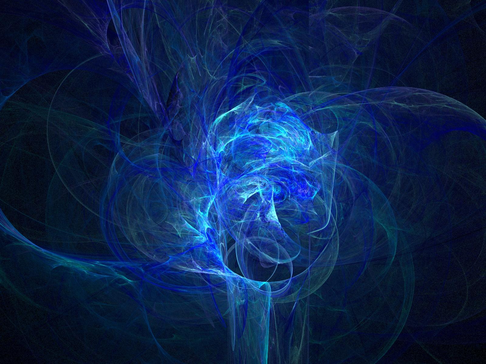 Abstract Blue Smoke Render Desktop Wallpaper