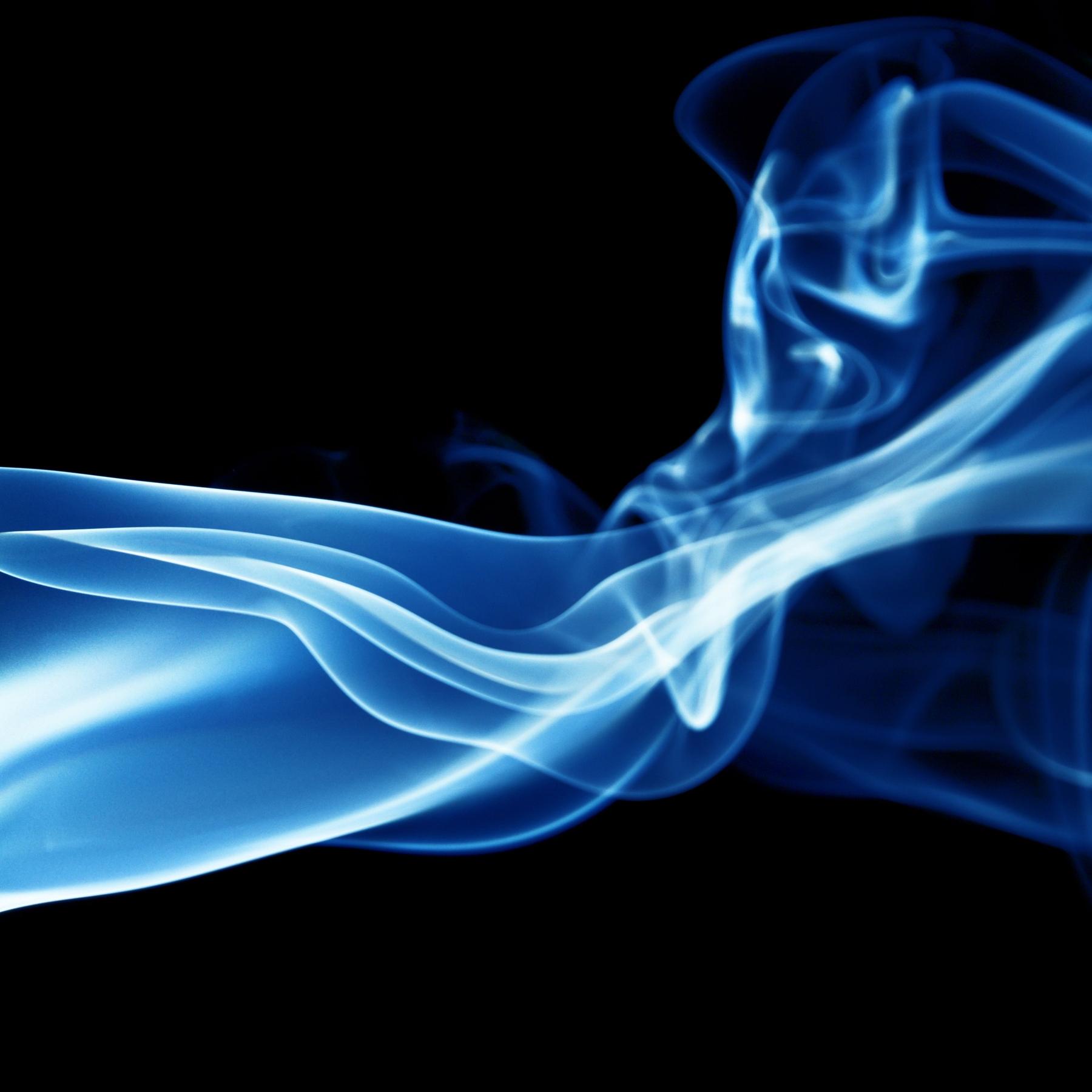 Blue smoke Wall mural | Photo wallpaper | Blue | Neon - Happywall