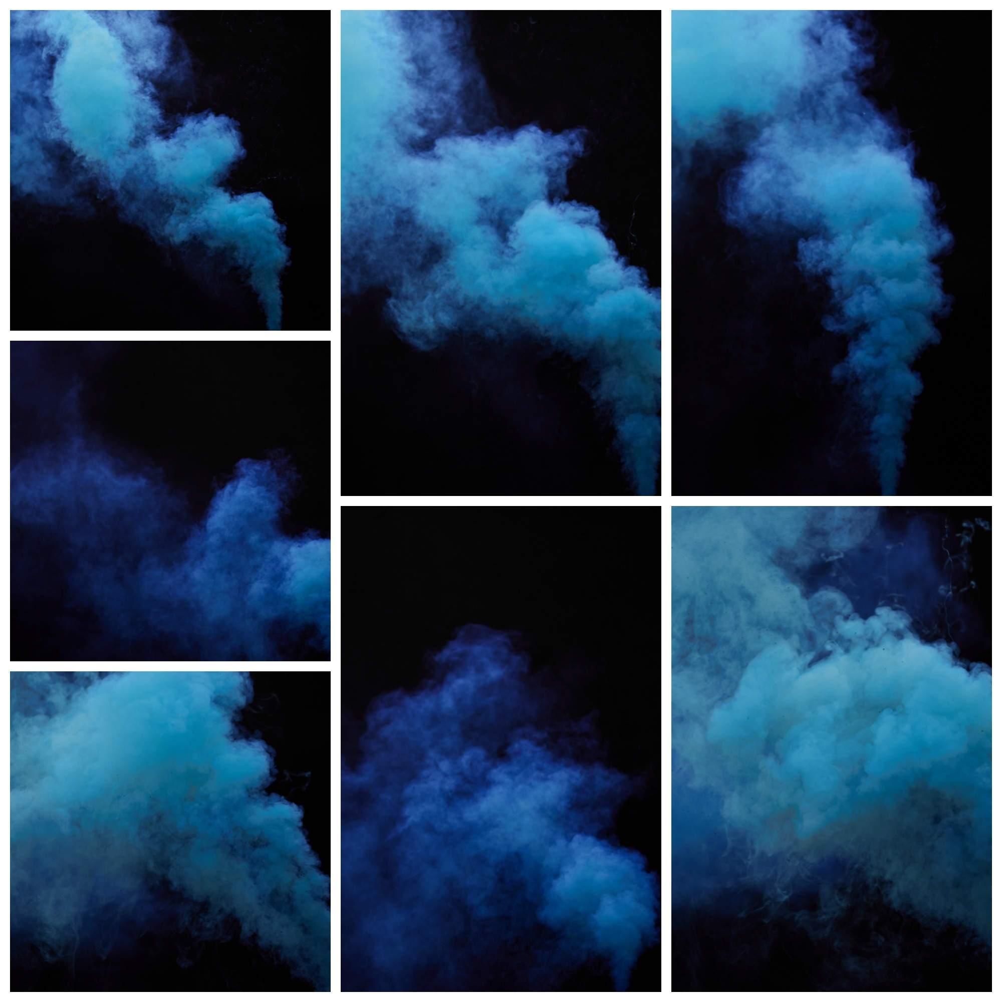 7 Blue Smoke Overlays - Artusco Design